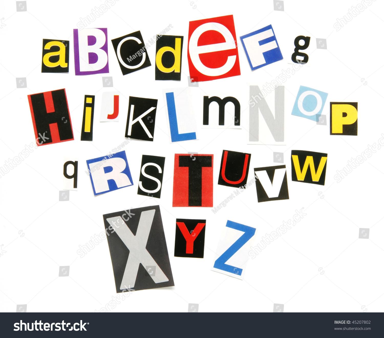 Ransom Note Alphabet Stock Photo 45207802   Shutterstock