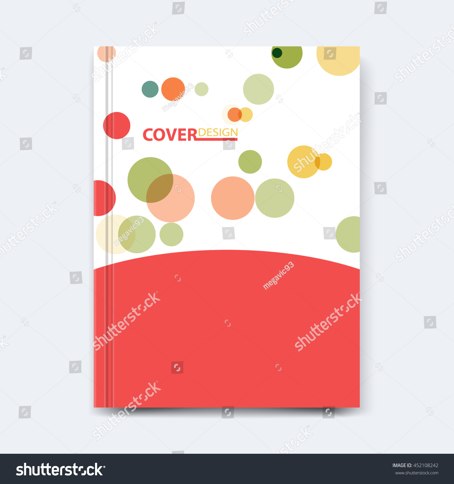 abstract vector shape design cover poster stock vector