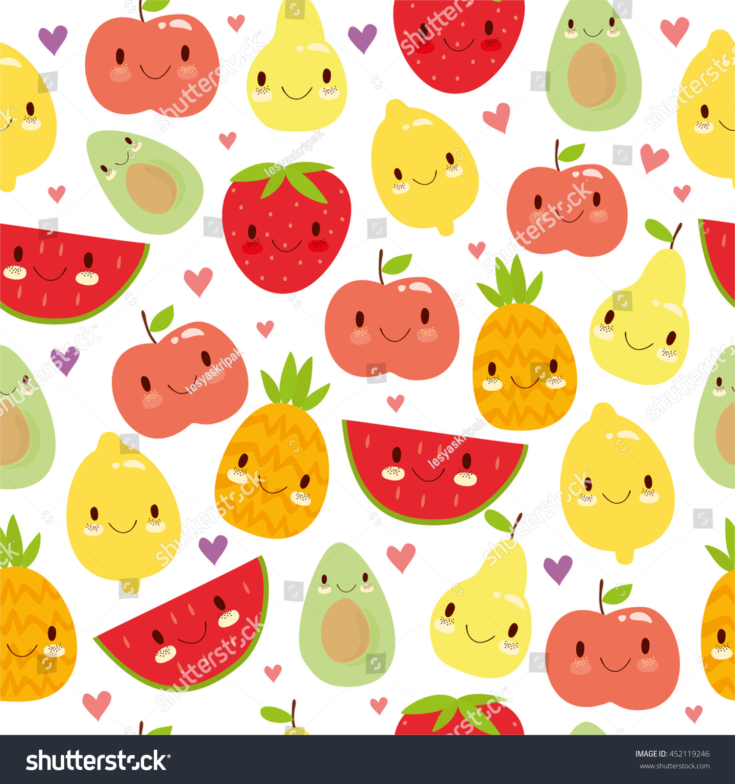 Cool Wallpaper Macbook Pineapple - stock-vector-vector-seamless-pattern-with-cute-smiling-fruit-apple-pineapple-lemon-avocado-strawberry-452119246  Pictures_388216.jpg