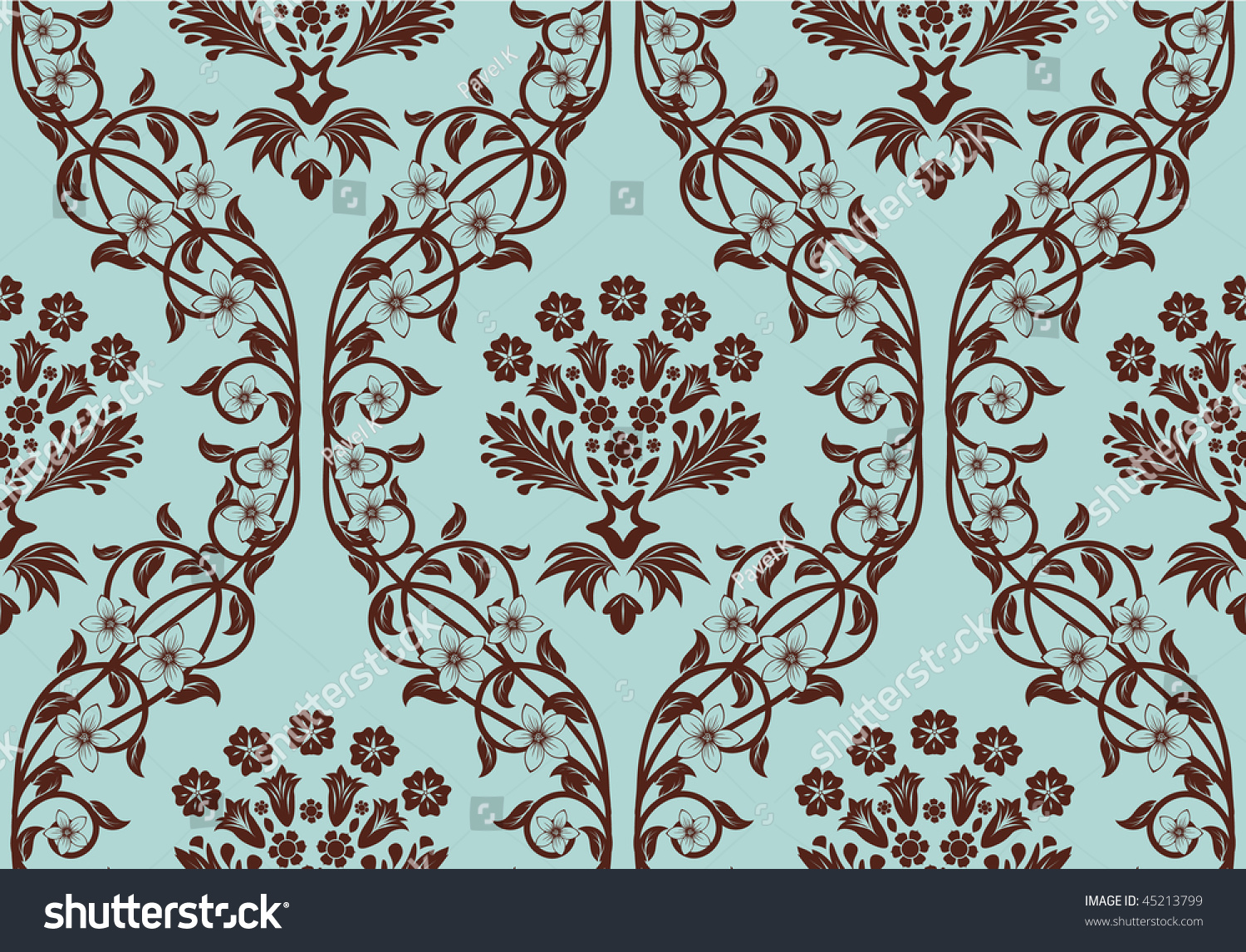 Damask Seamless Vector Background Easy Making Stock Vector ...