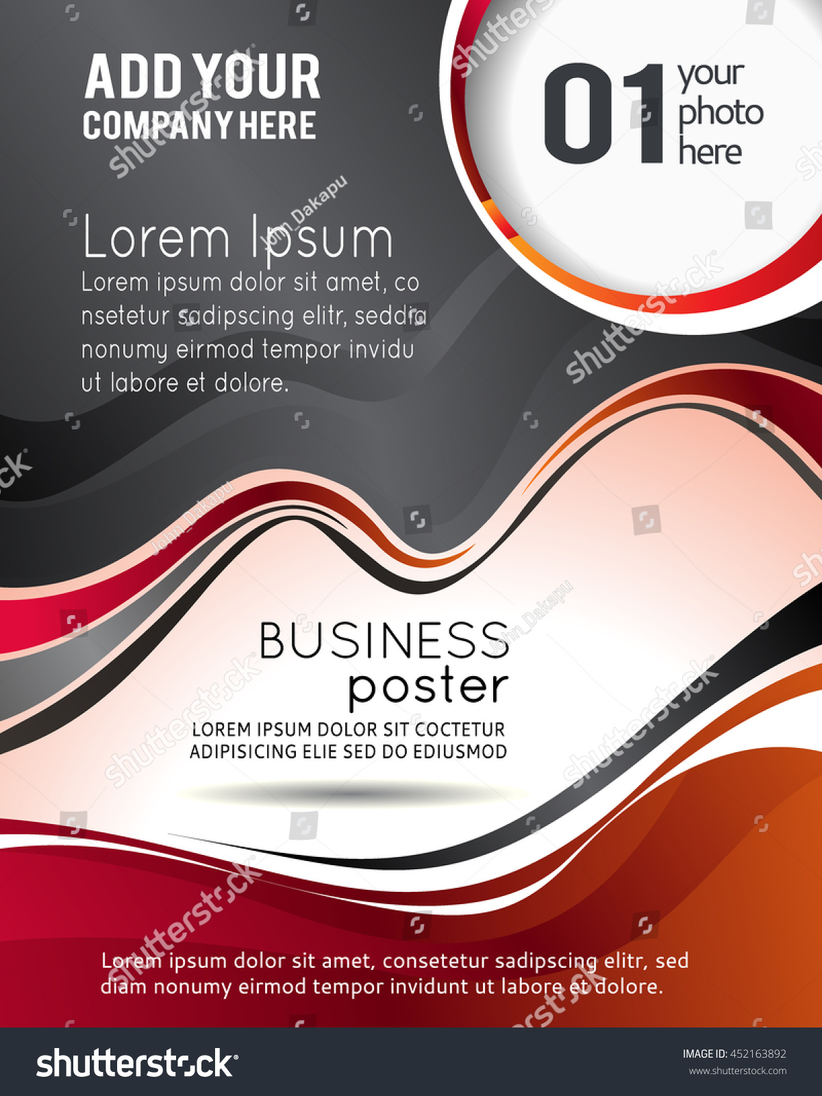 Professional Business Design Layout Template Corporate Stock Vector ...