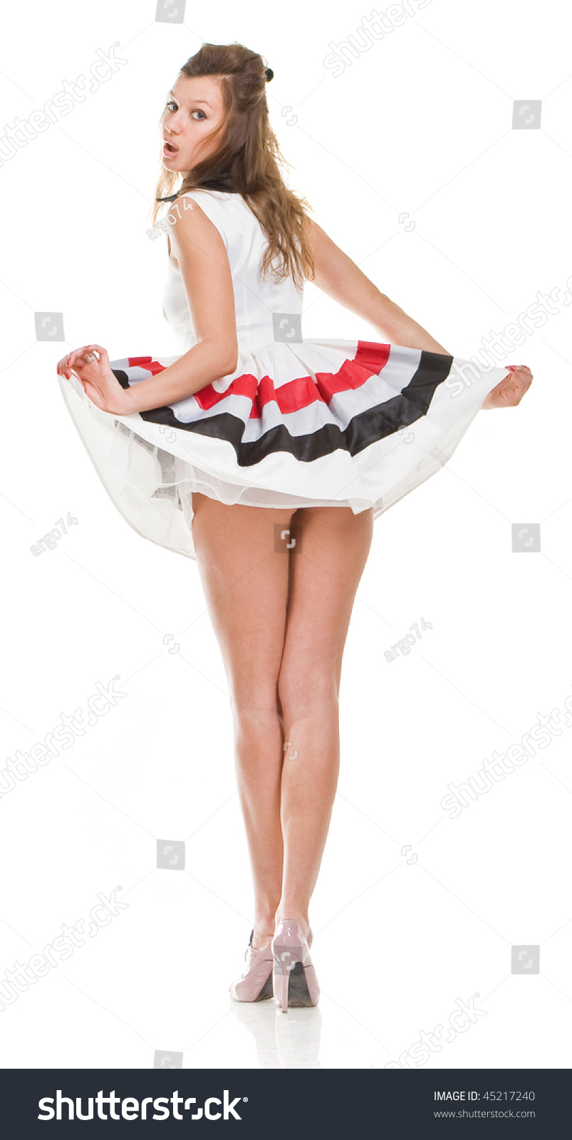 Sexy girls in short dress