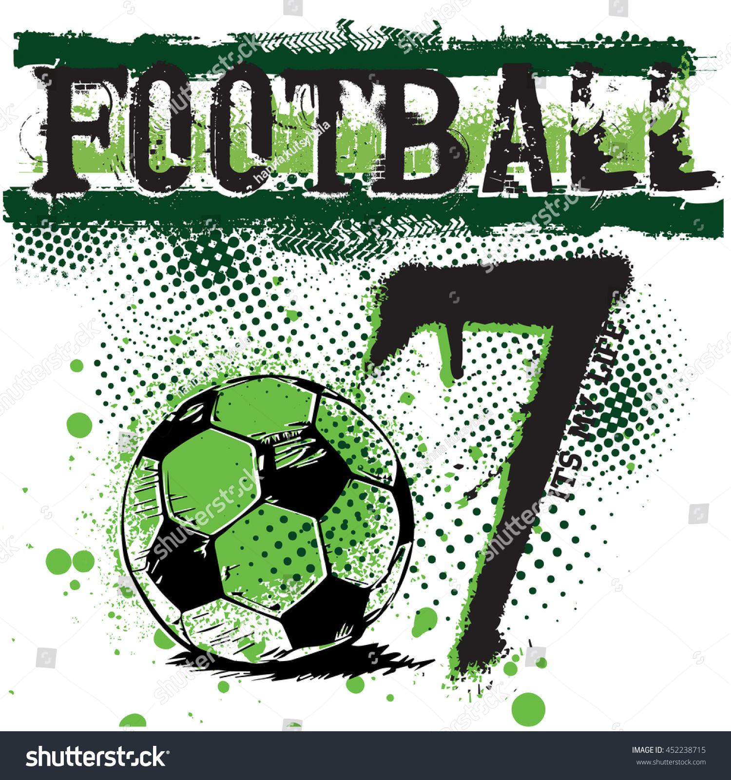 typographysport football vector graphic print tshirt stock vector
