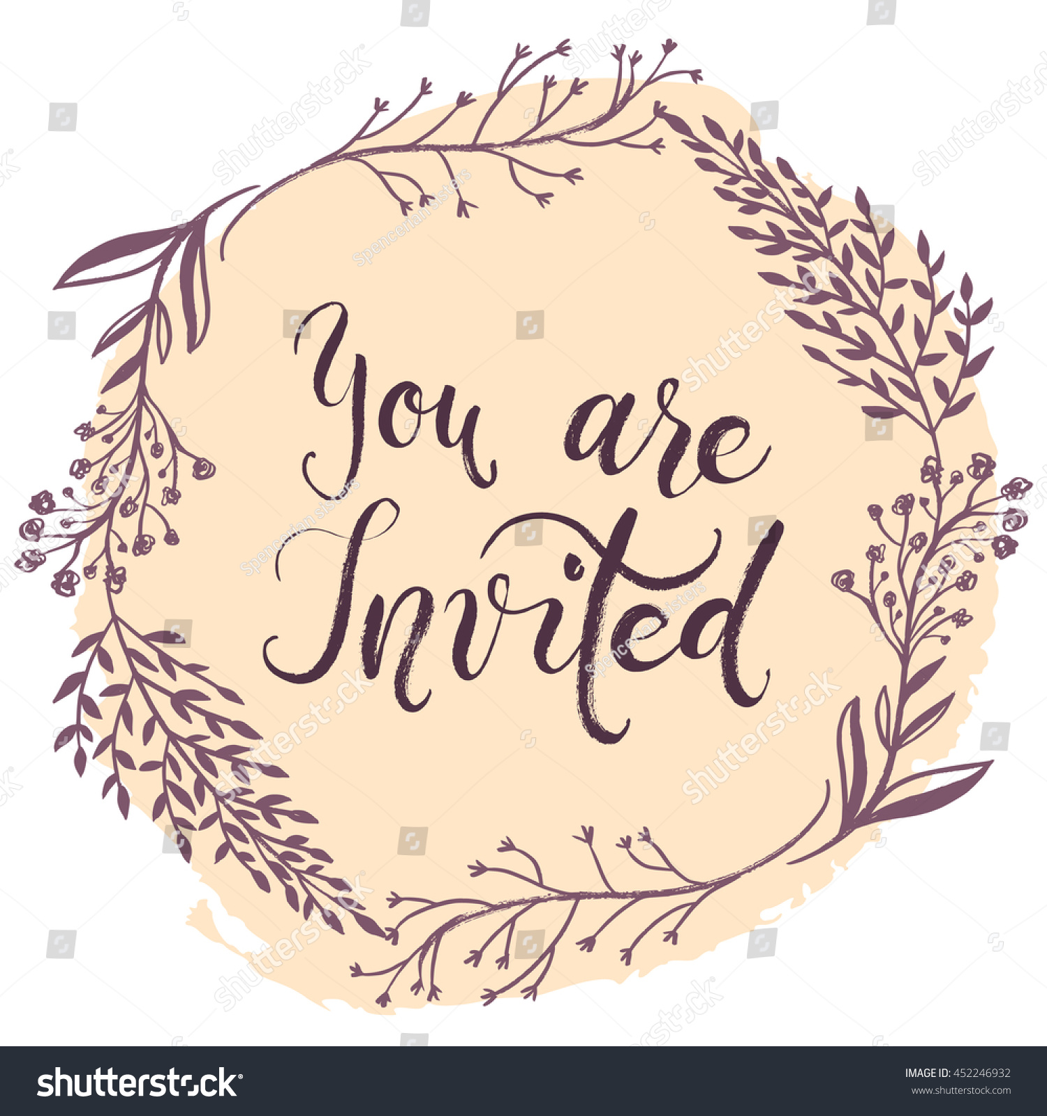 you invited party invitation card vector stock vector 452246932 shutterstock. Black Bedroom Furniture Sets. Home Design Ideas