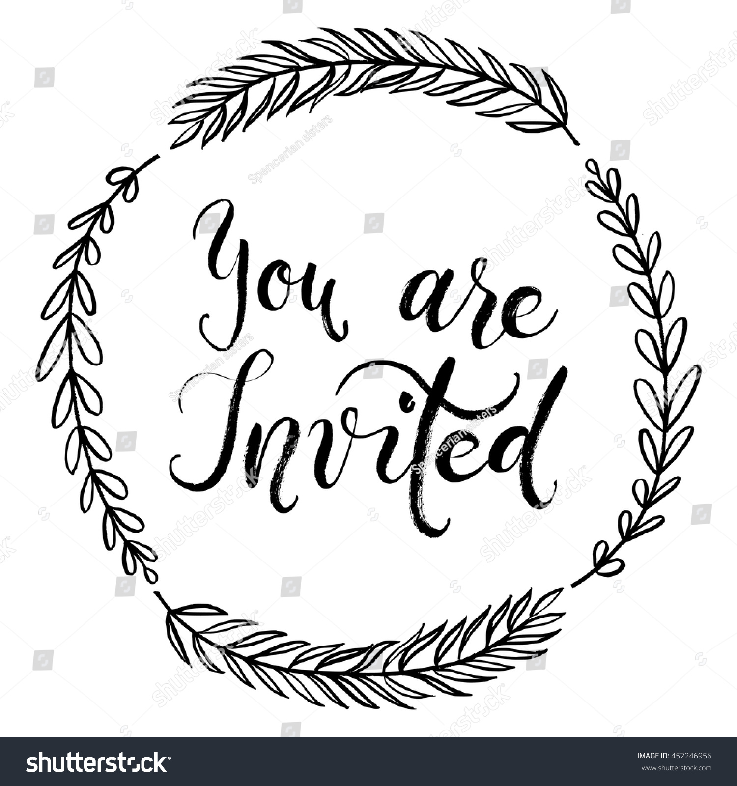 you invited party invitation card vector stock vector 452246956 shutterstock. Black Bedroom Furniture Sets. Home Design Ideas
