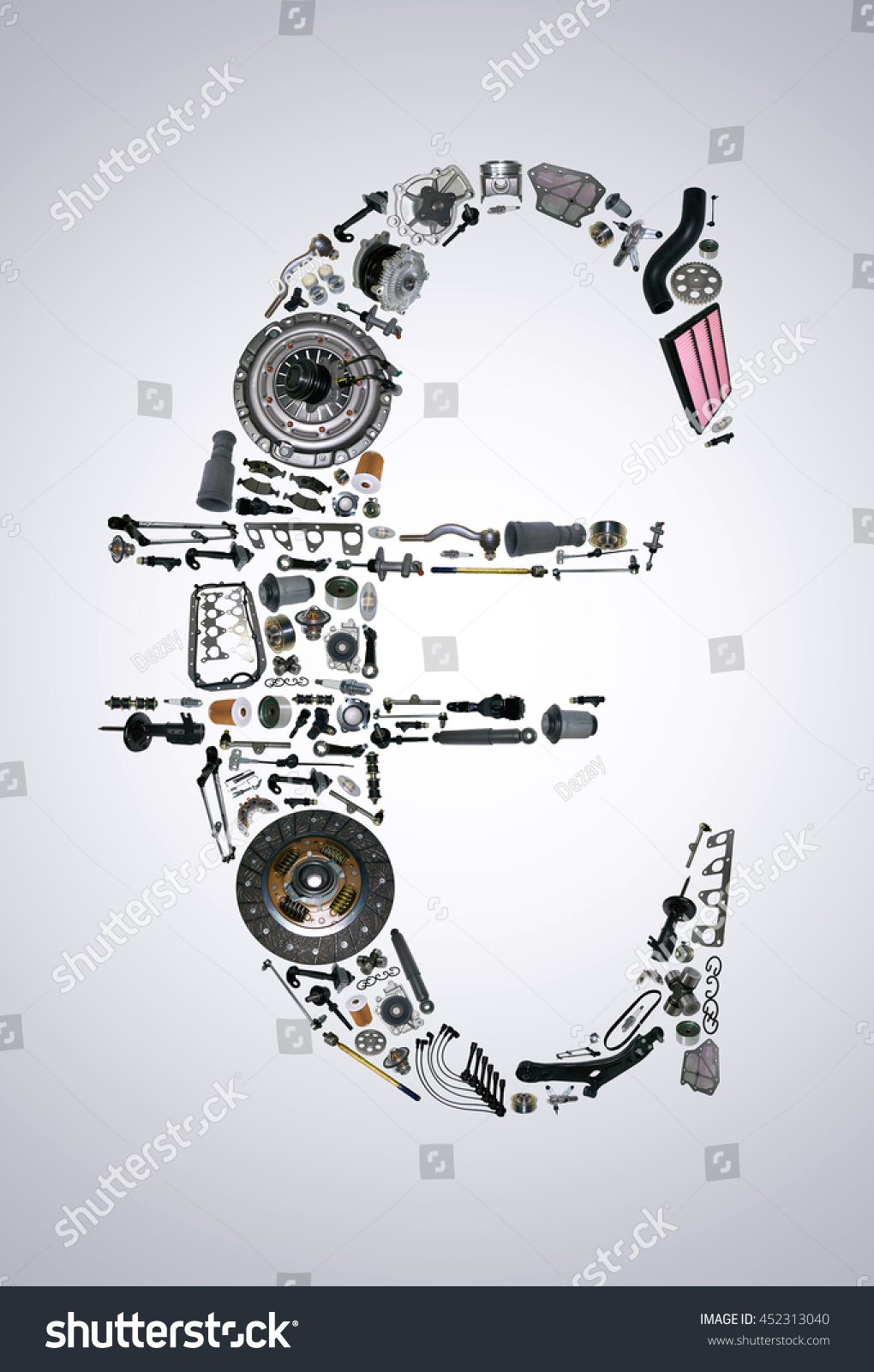 Euro Money Auto Parts Car Spare Stock Photo 452313040 - Shutterstock