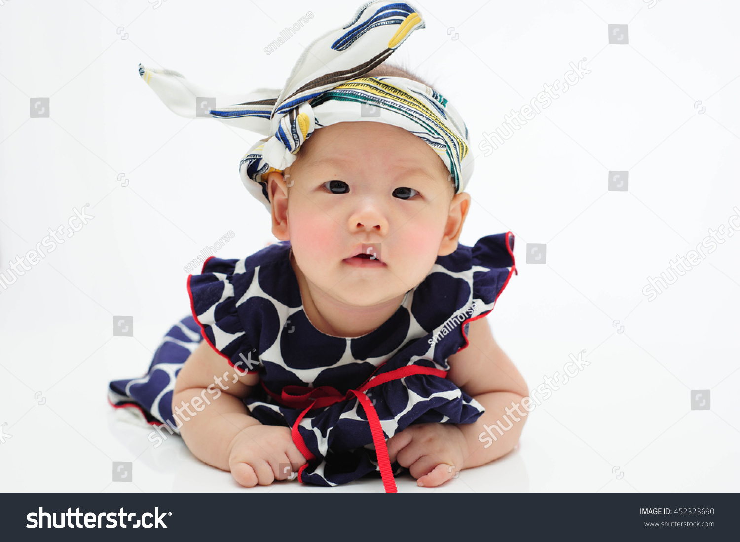 cute baby wear cookies isolated on stock photo (royalty free