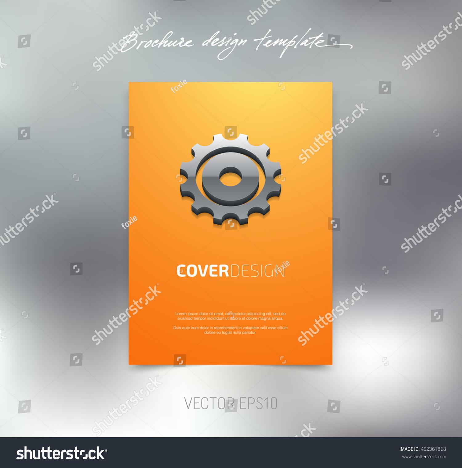 vector brochure booklet cover design template stock vector royalty