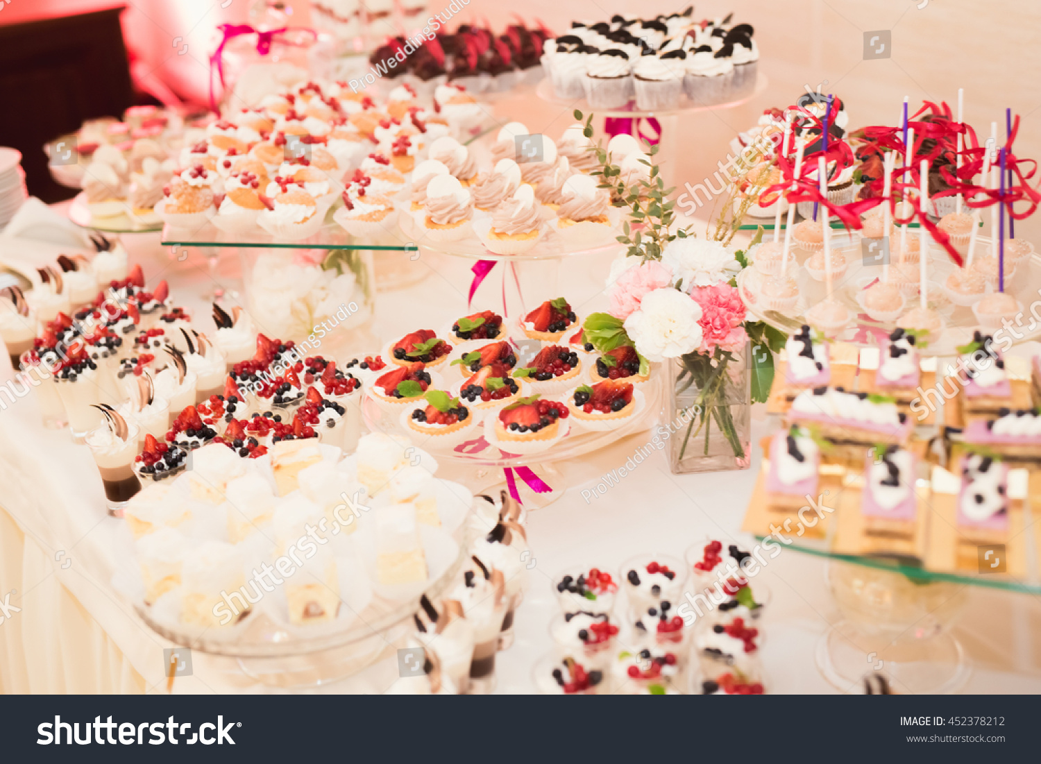 Delicious Wedding Reception Candy Bar Dessert Stock Photo Edit Now