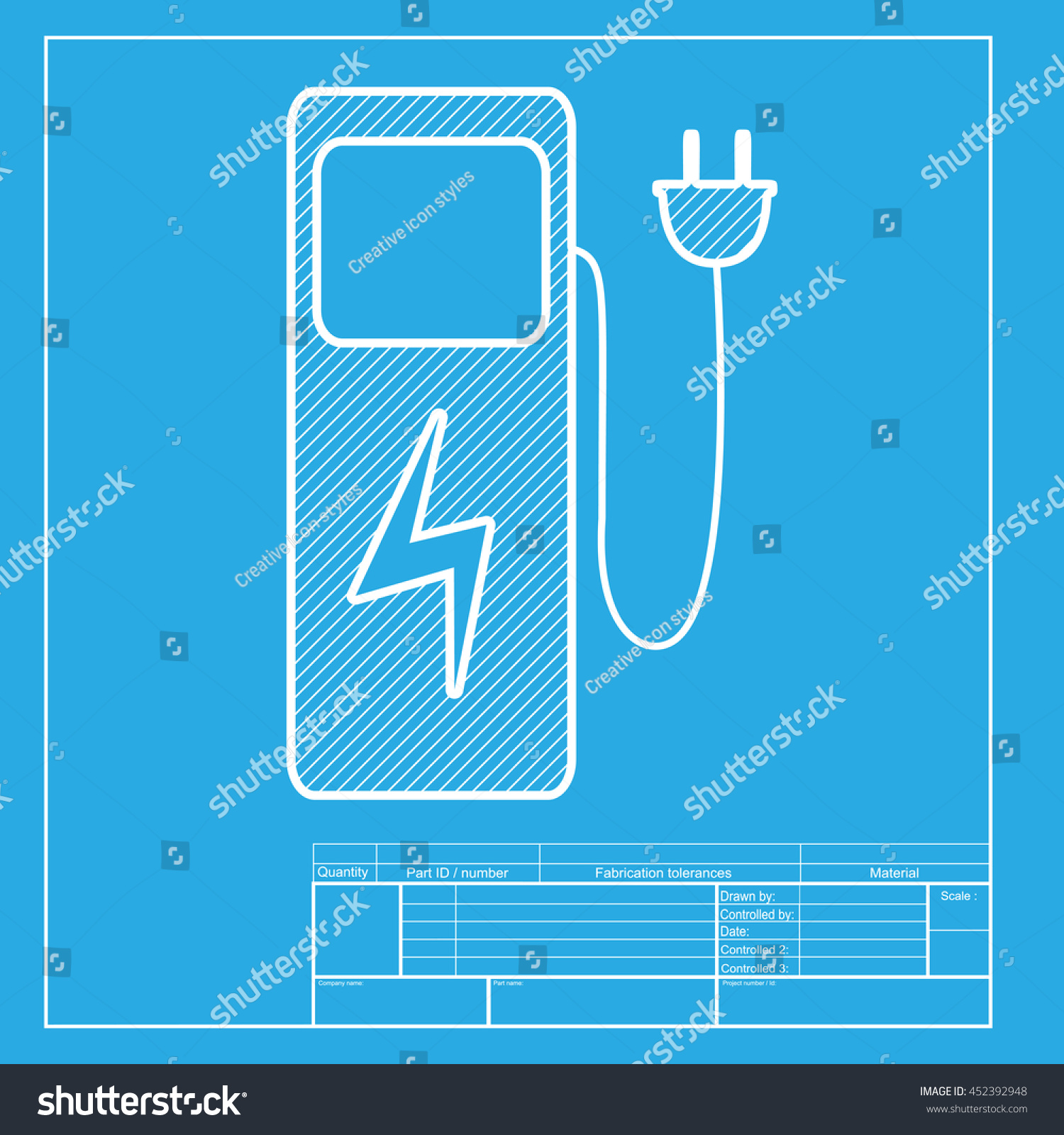 Electric car charging station sign white stock illustration electric car charging station sign white section of icon on blueprint template malvernweather Image collections
