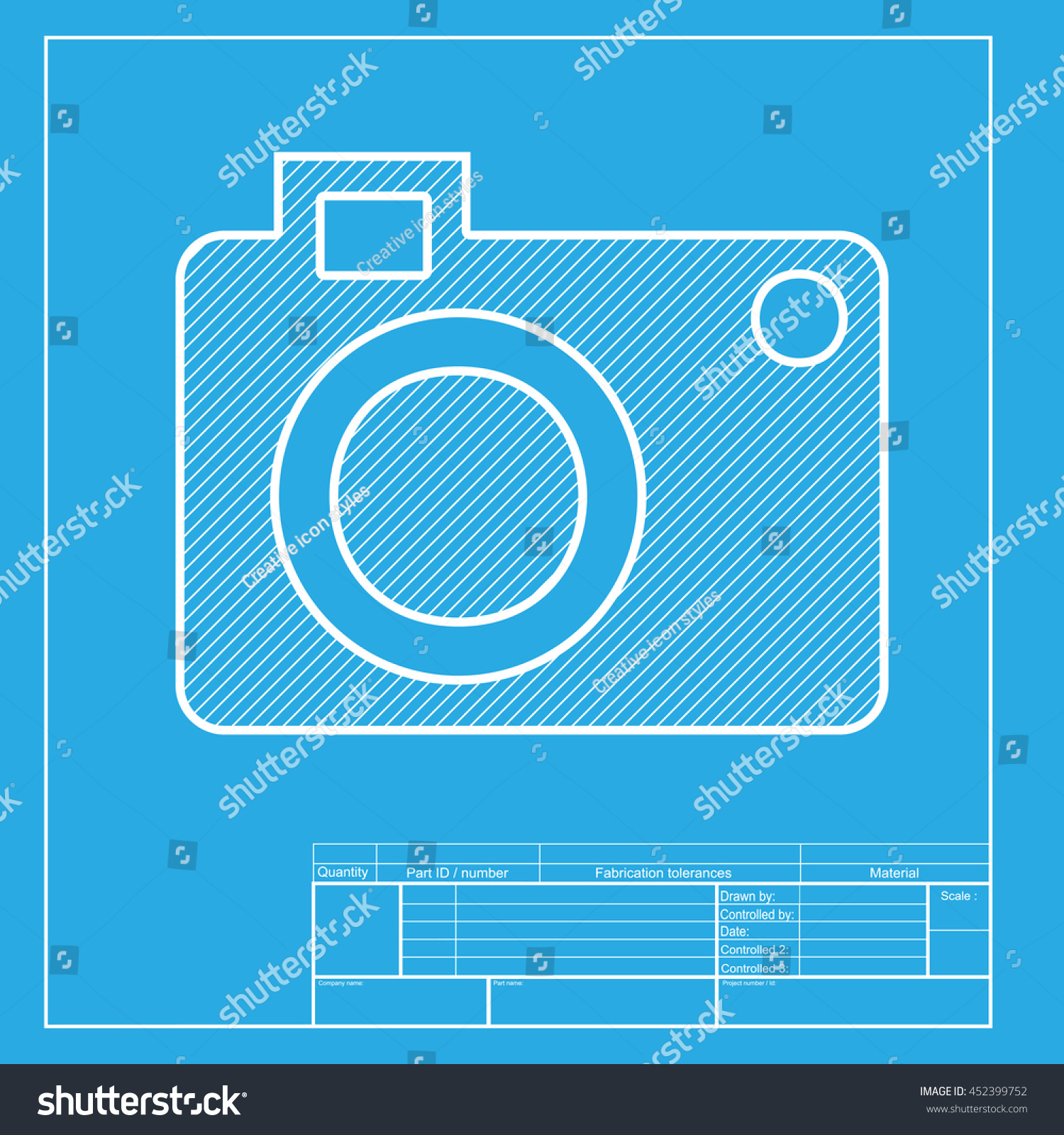 Digital camera sign white section icon stock illustration 452399752 digital camera sign white section of icon on blueprint template malvernweather Choice Image