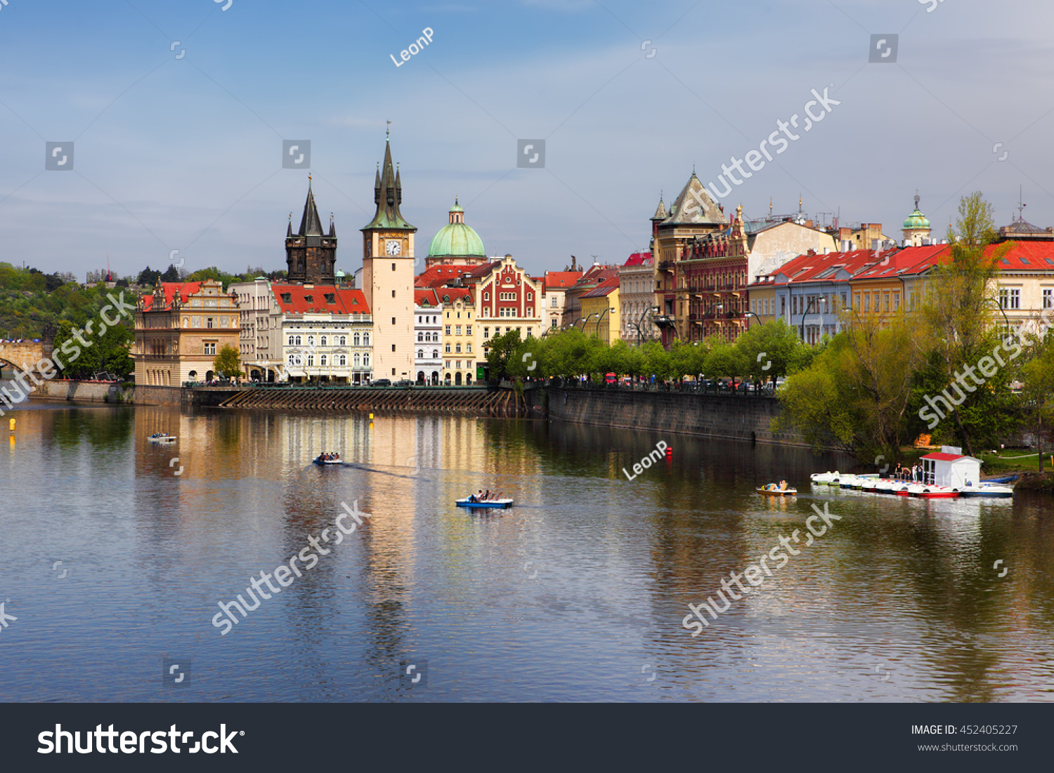 Old town near charles bridge over stock photo 452405227 for Where is prague near