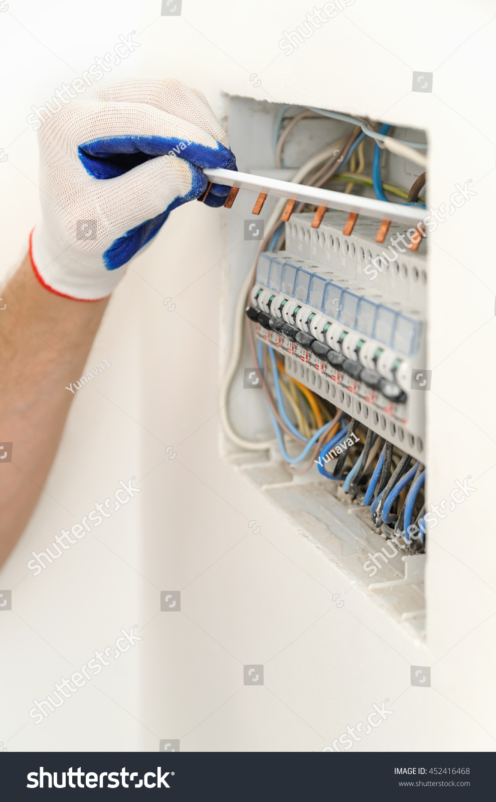 Fantastic Boiler Diagram Thick Pit Bike Wiring Rectangular Hss Wiring How To Wire Guitar Pickups Young Wiring Diagram For Gas Furnace BlackCar Alarm Installation Instructions Electrician Installing Electrical Fuse Box House Stock Photo ..