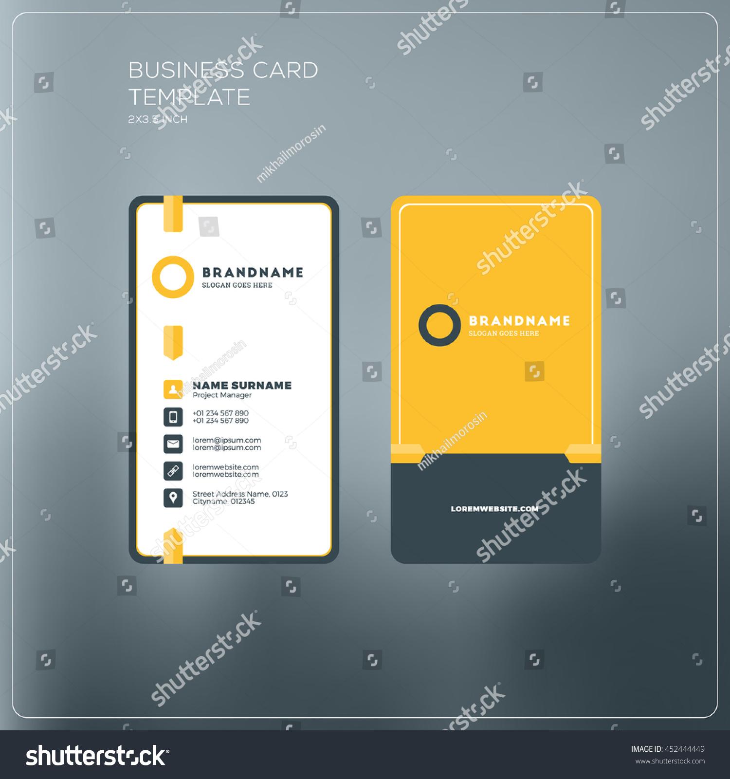Vertical Business Card Template Eliolera