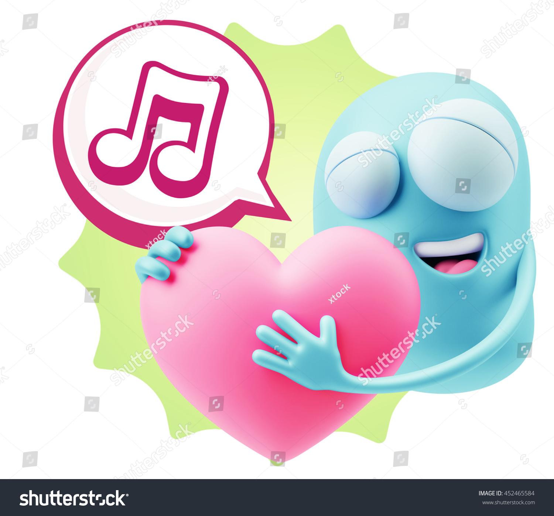 3 D Rendering Emoji Saying Music Symbol Stock Illustration 452465584
