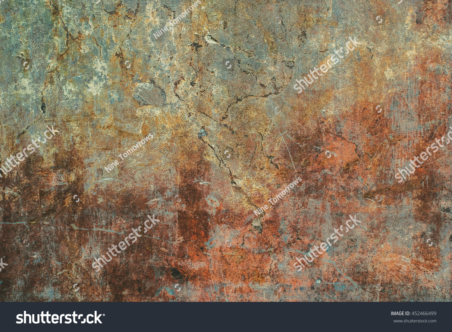 Dark cracked rusty worn aged concrete texture  Tiled  Seamless tiled  concrete wallpaper  For. Dark Cracked Rusty Worn Aged Concrete Stock Photo 452466499