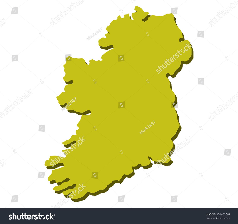 map ireland stock vector 452495248 shutterstock