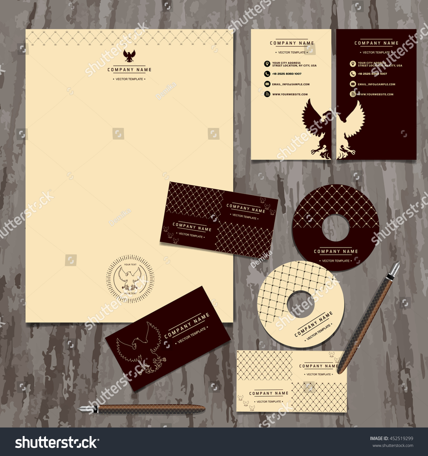 Brand Book Business Cards Logo Corporate Stock Vector 452519299 ...
