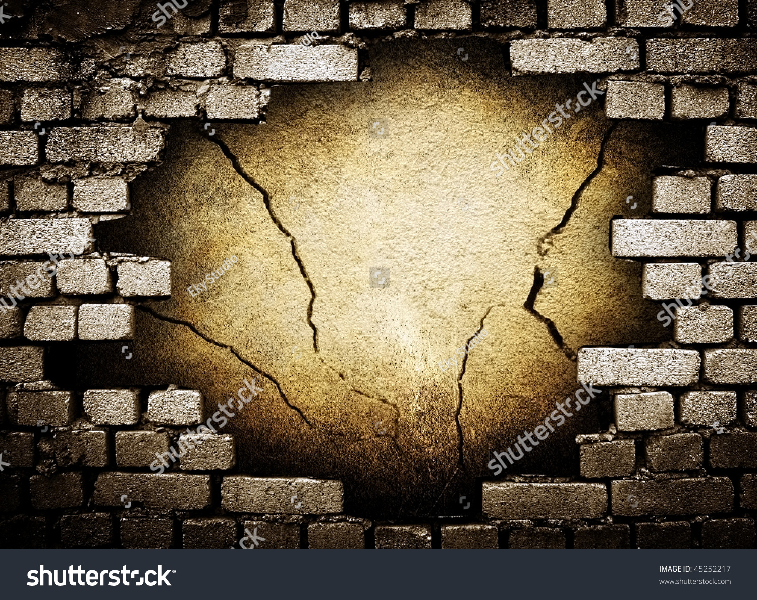 Hole Brick Wall Stock Illustration 45252217 - Shutterstock