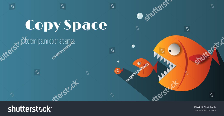 Big fish eat small fish and copy copy space stock vector for Big fish soundtrack