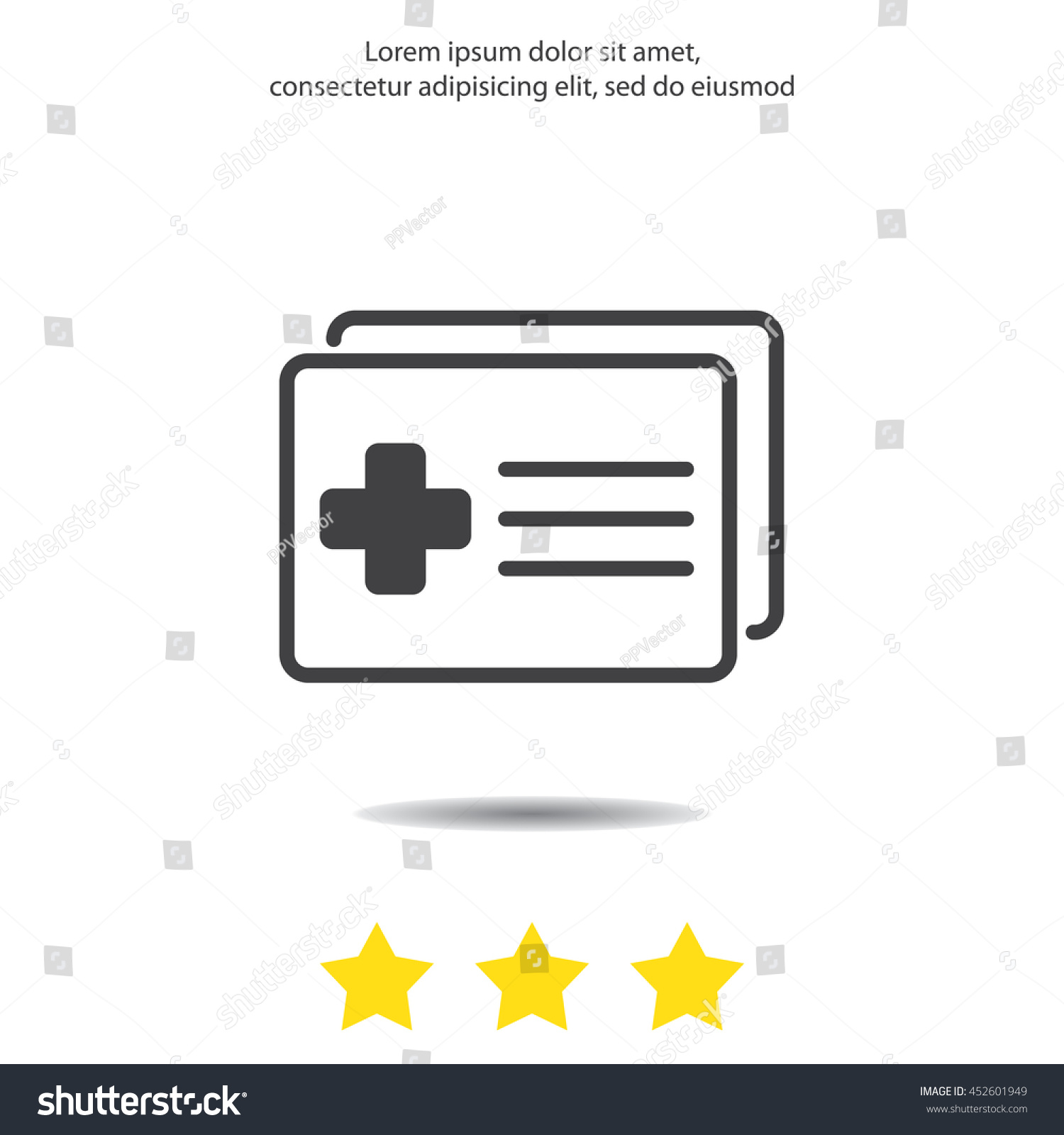 Web icon medical forms medical certificate stock vector 452601949 medical forms medical certificate xflitez Gallery
