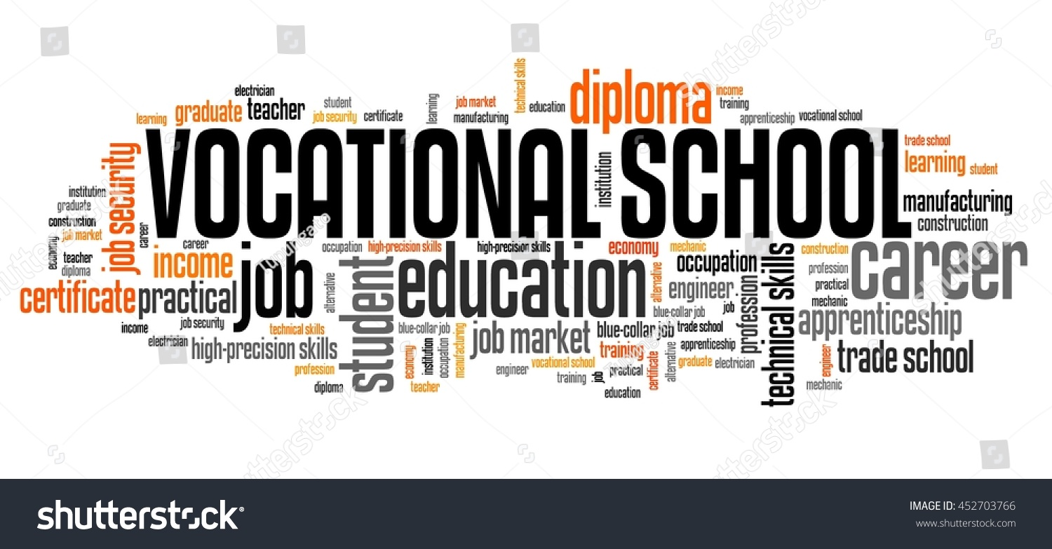 vocational school word collage technical occupation stock vocational school word collage technical occupation education