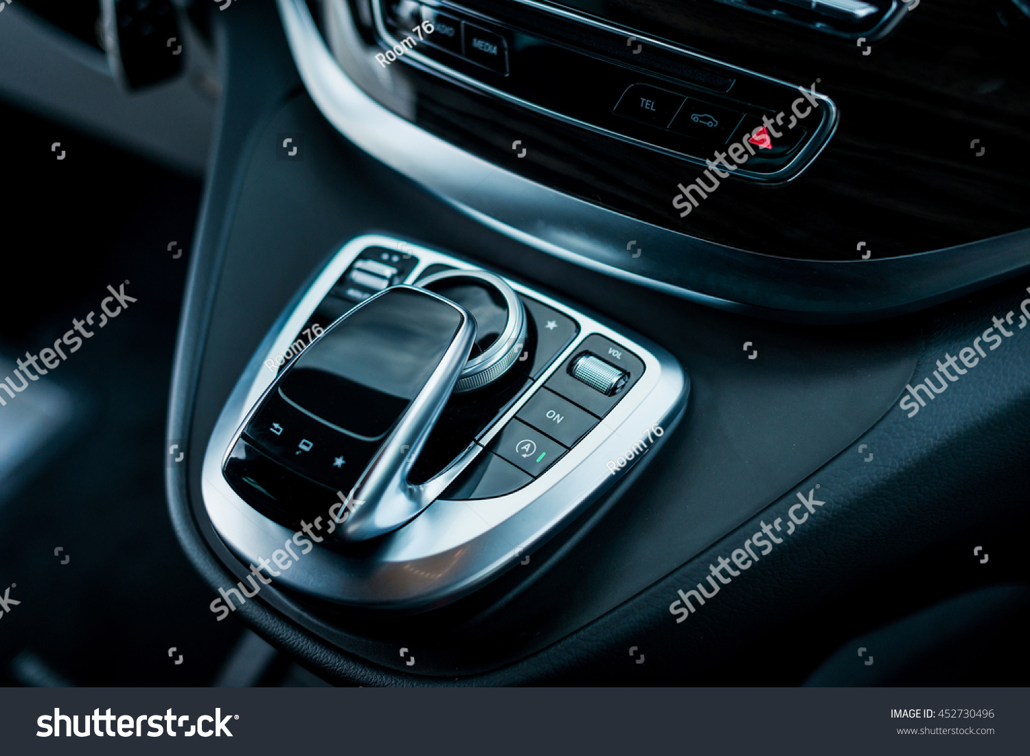 luxury car interior details middle console stock photo 452730496 shutterstock. Black Bedroom Furniture Sets. Home Design Ideas