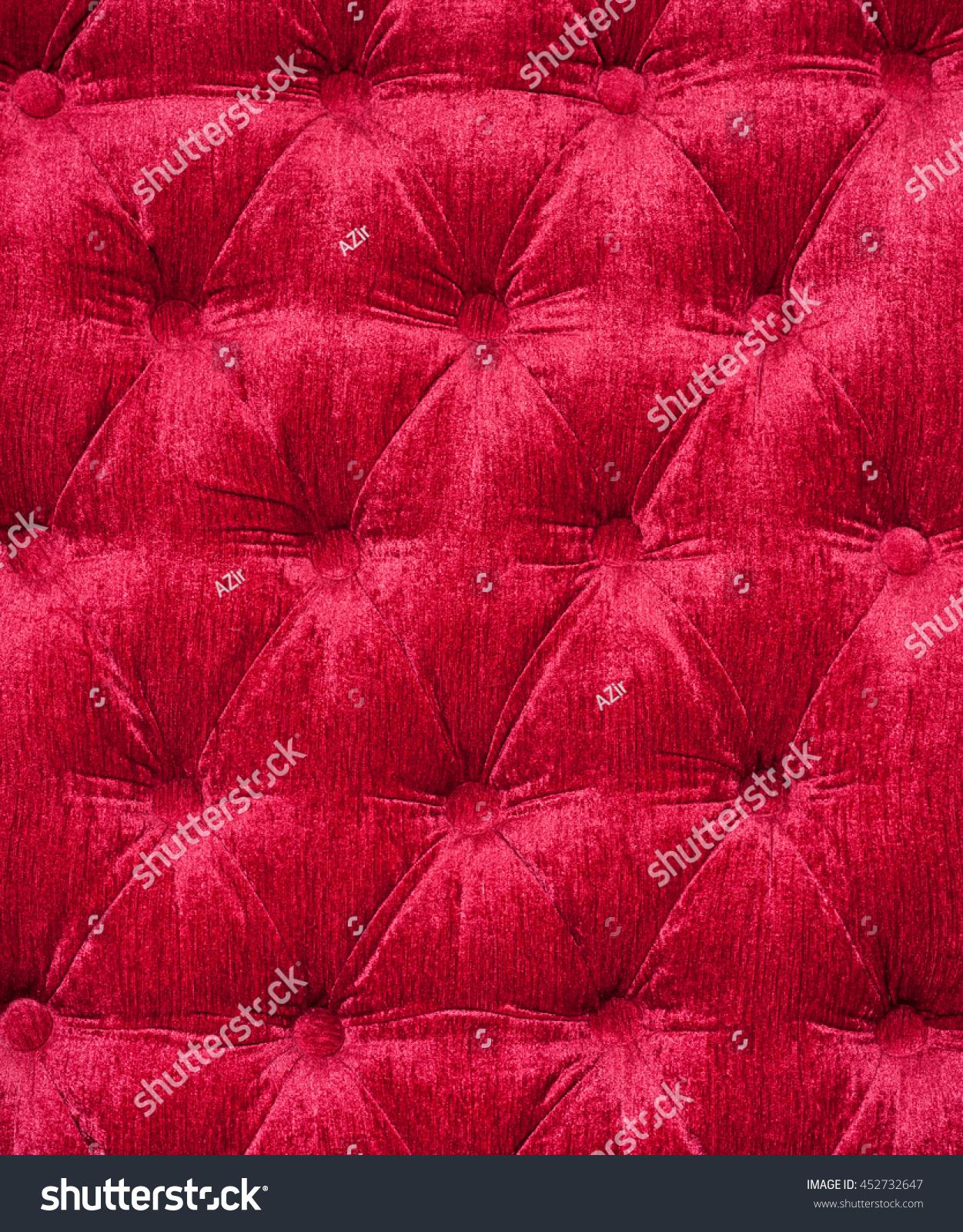 Sofa Cover Red Background Red Velvet Stock
