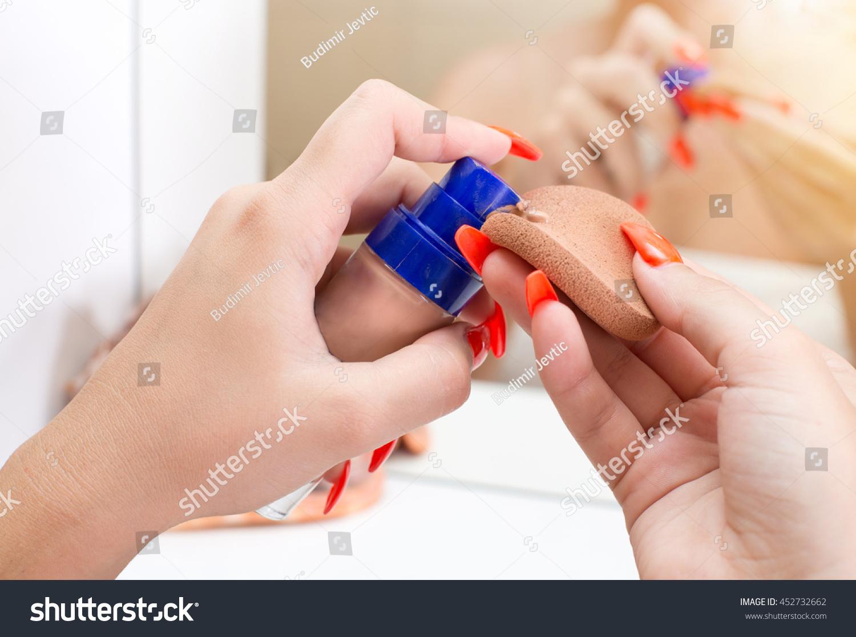 Close Females Hands Long Red Nails Stock Photo (Royalty Free ...