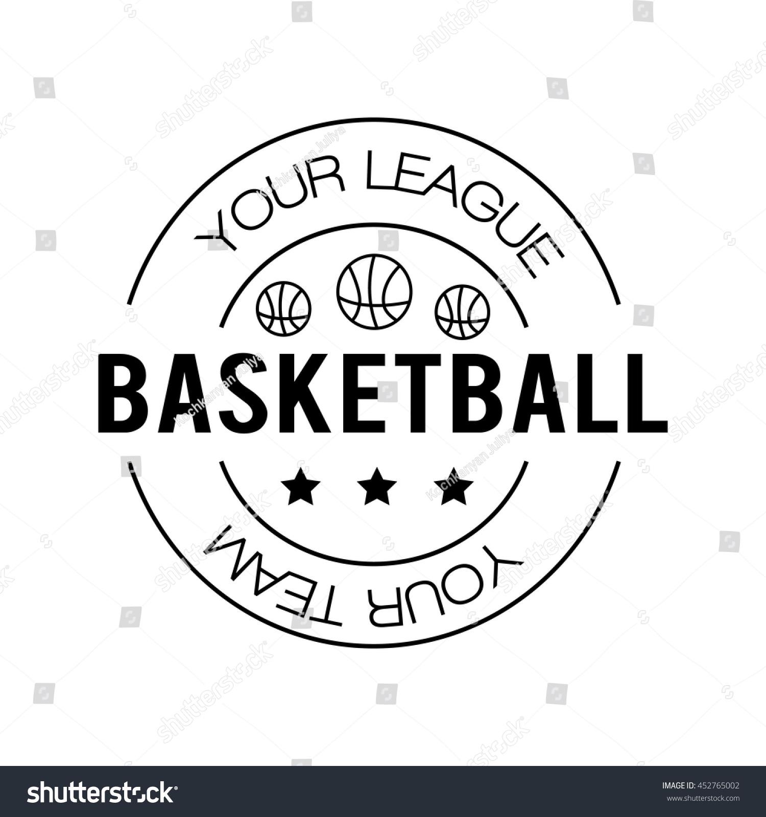 Basketball Logo Basketball Emblem Template Basketball Ball Stock ...