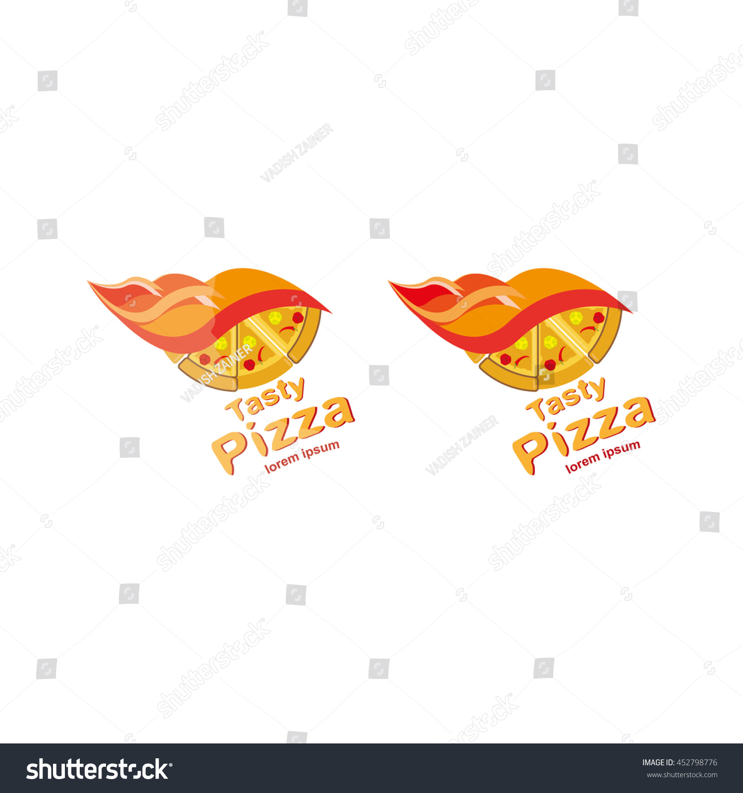 Pizza logo symbols fast food restaurant illustration stock vector pizza logo symbols for fast food restaurant illustration for food buycottarizona Image collections