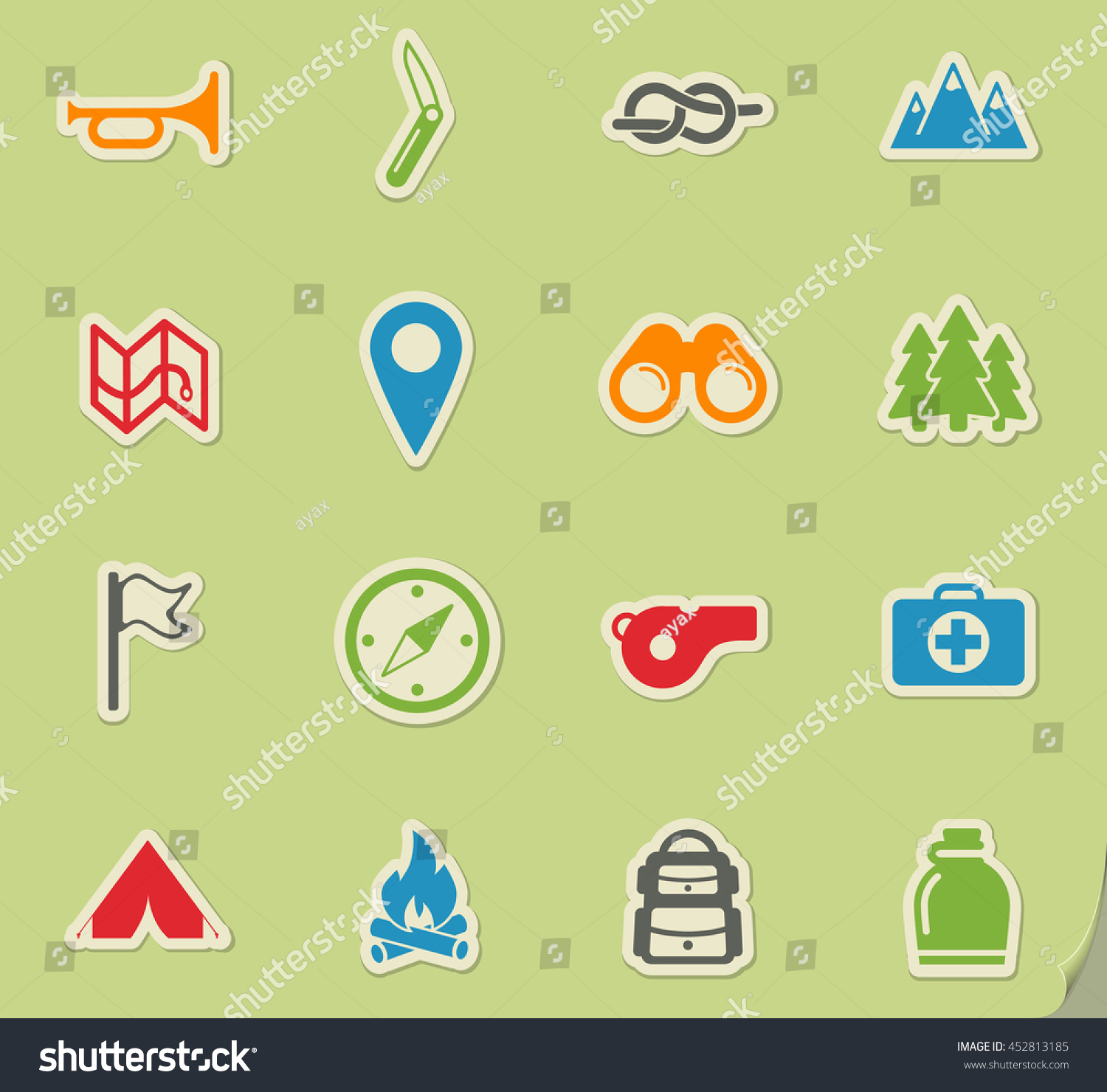 Boy scout simply symbols web icons stock vector 452813185 boy scout simply symbols for web icons biocorpaavc Images