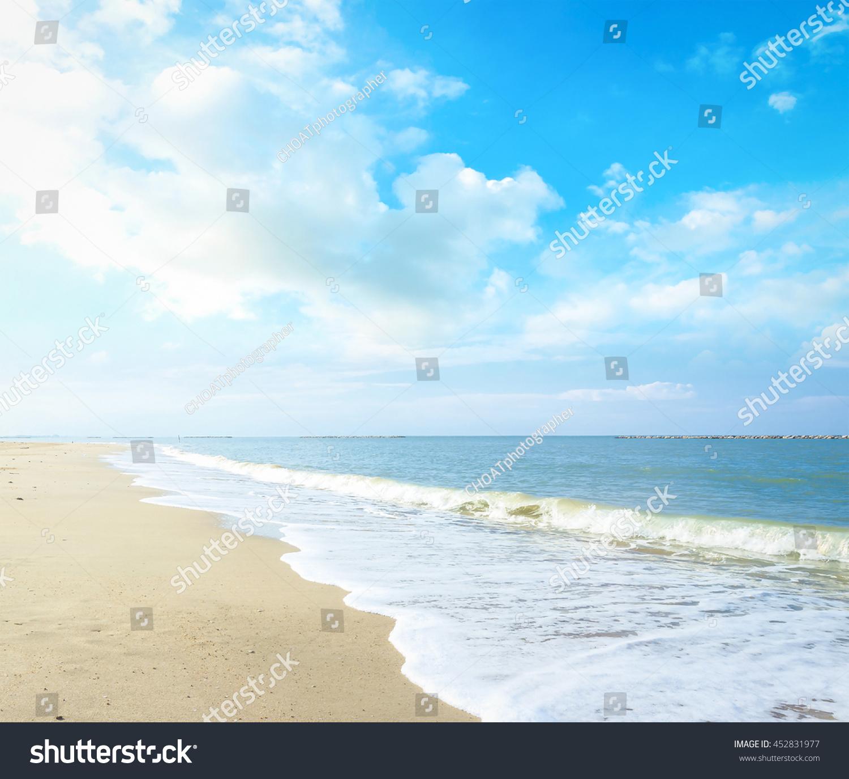 Beach Vintage Style Break Ocean Terrace Stock Photo