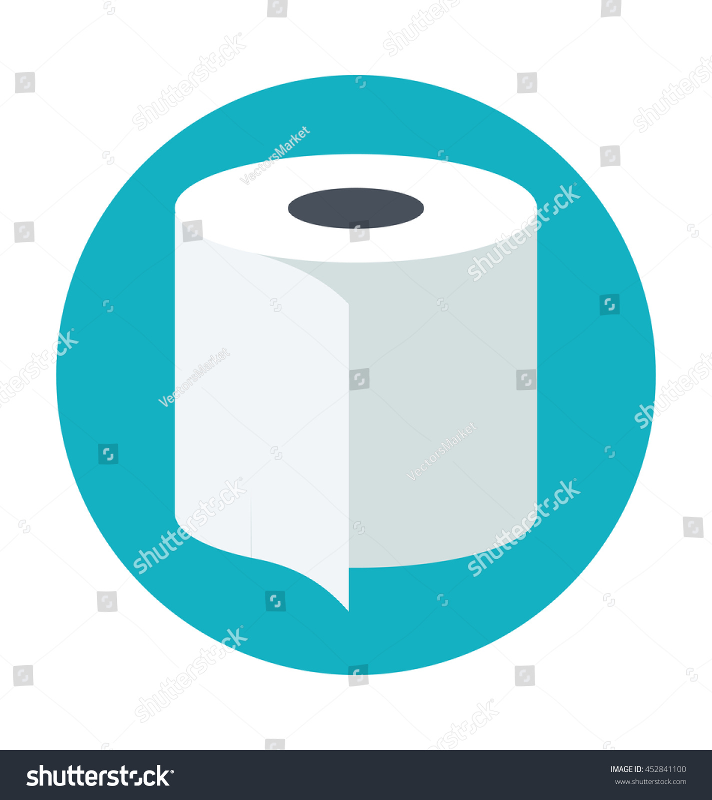 Toilet Paper Colored Vector Illustration Stock Vector