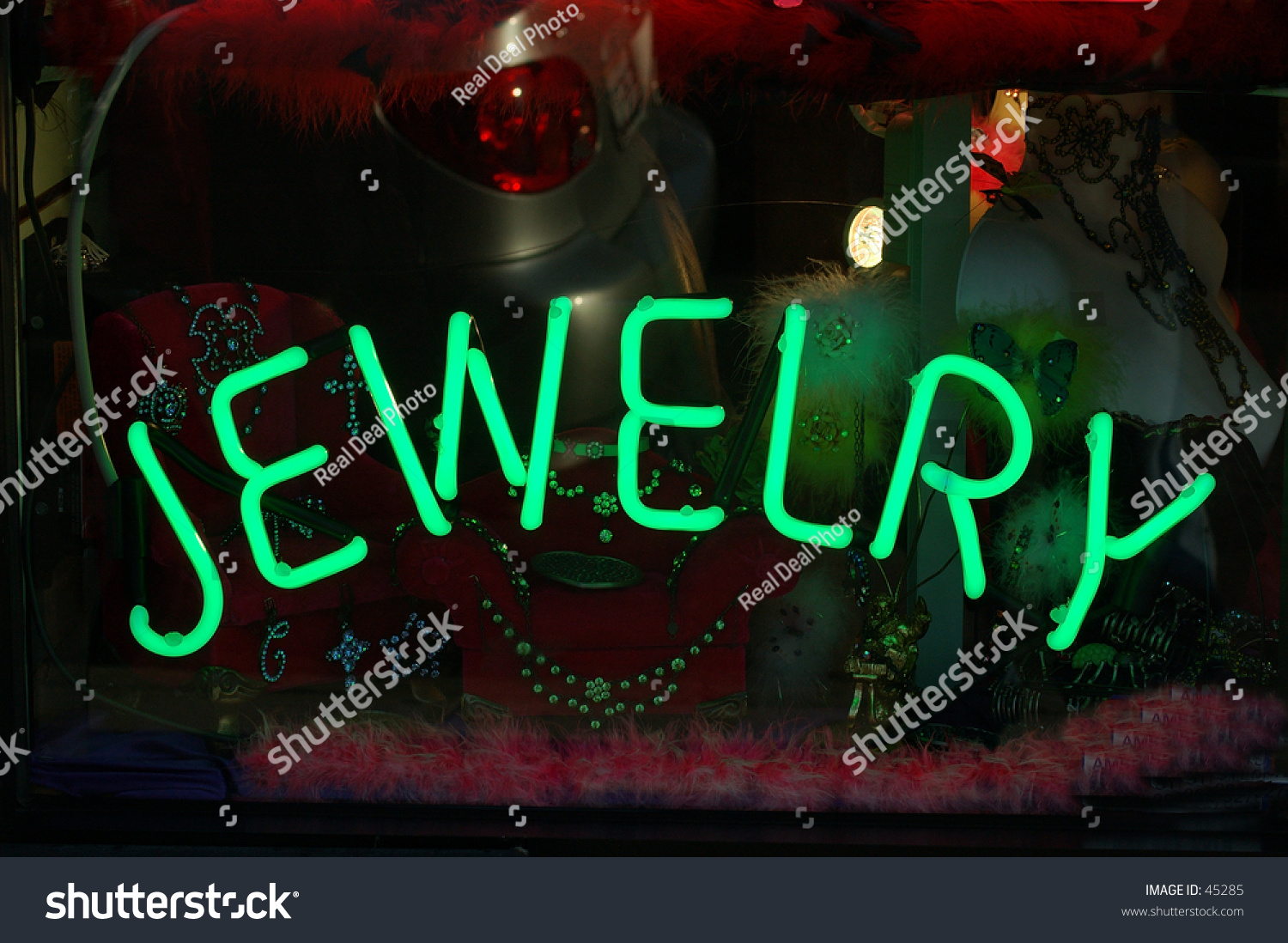 Neon jewelry sign in a los angeles fashion district for Fashion jewelry district los angeles