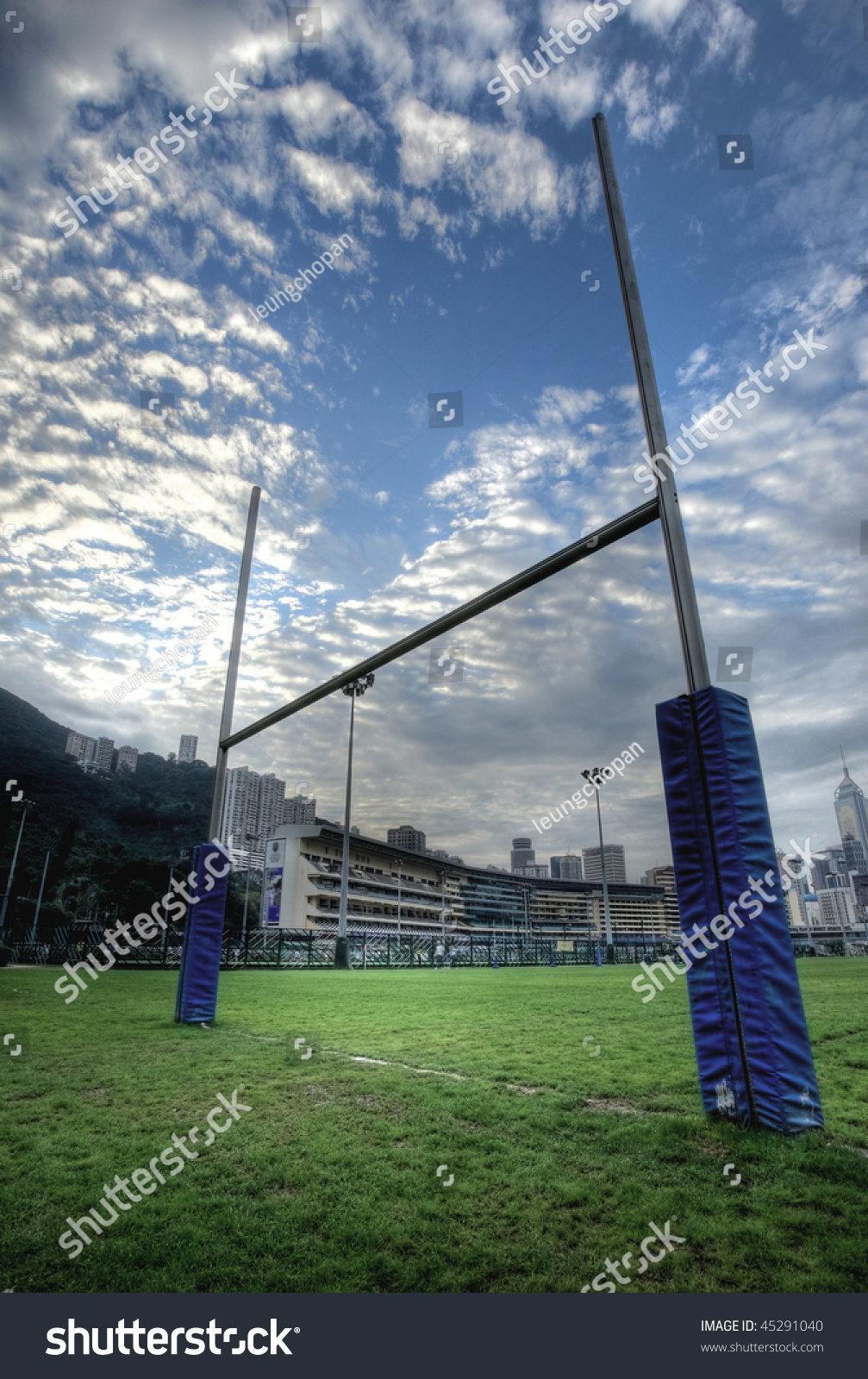 how to make rugby goal posts