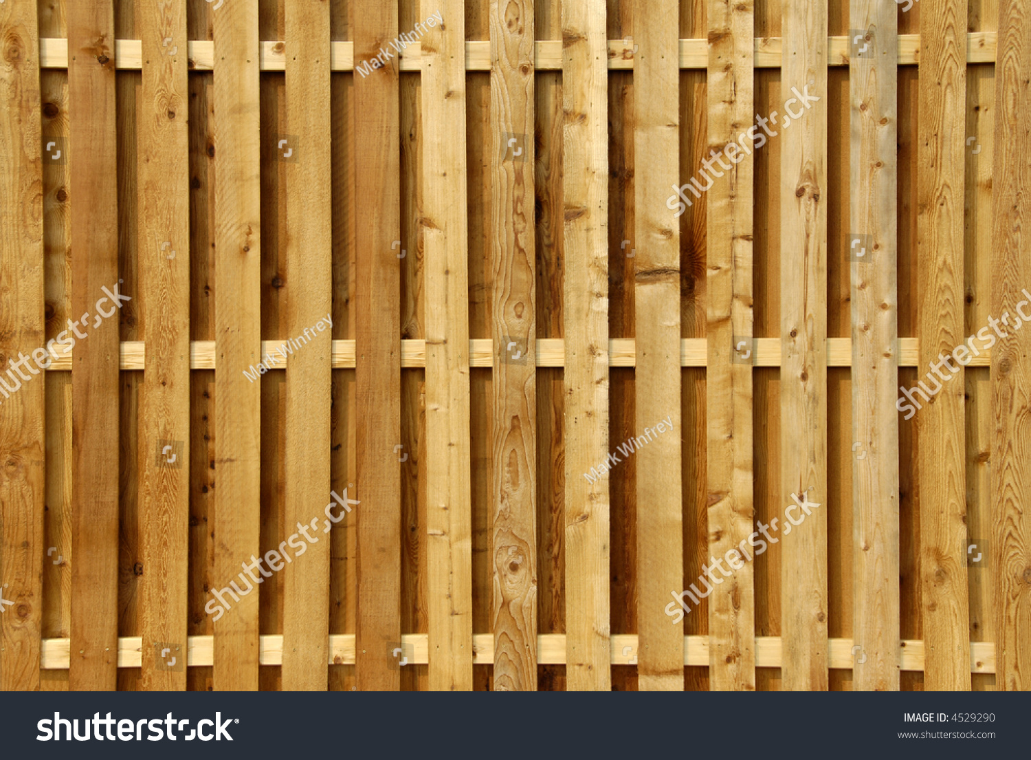 Wood Privacy Fence Stock Photo 4529290 : Shutterstock