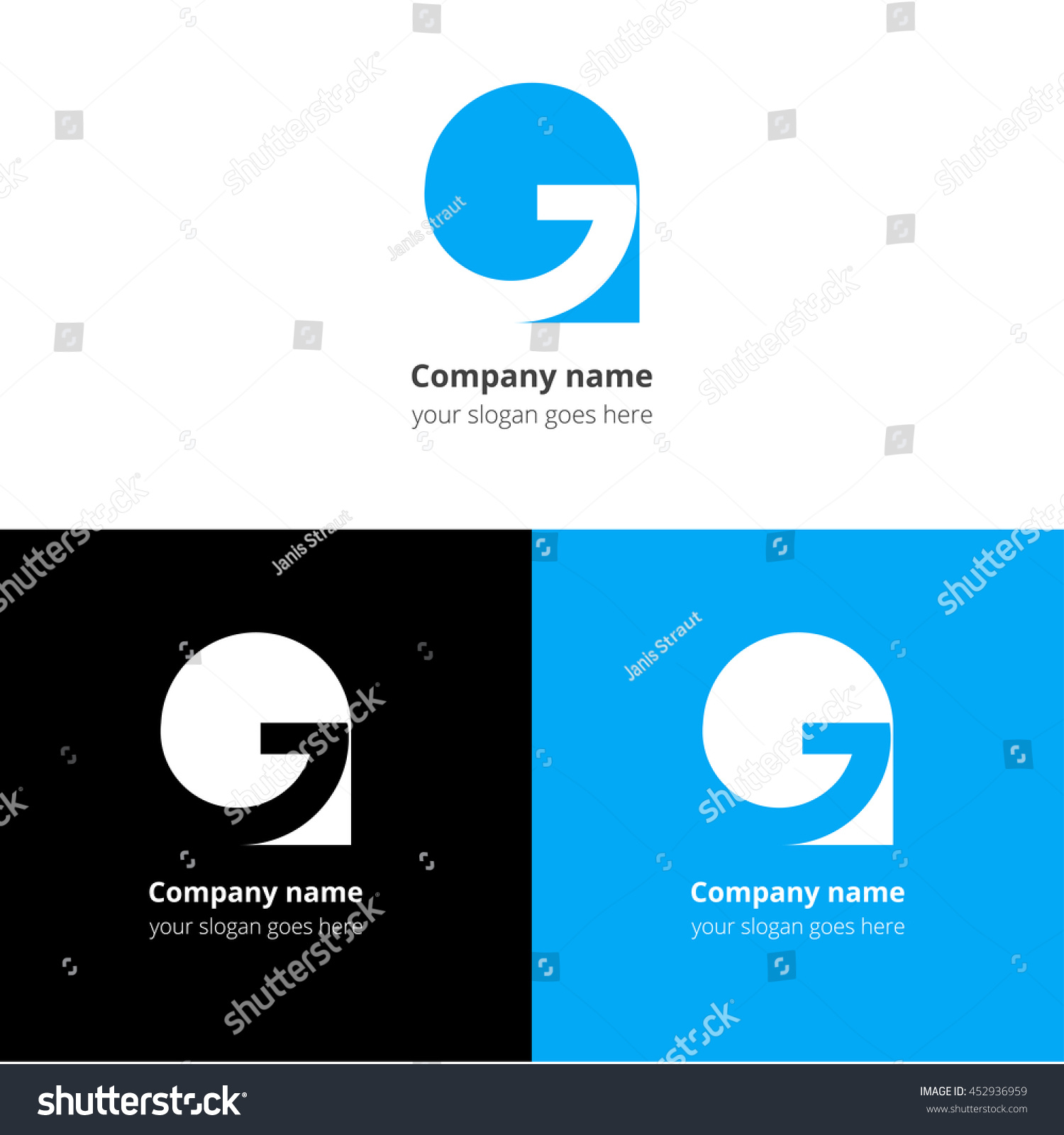 letter g logo icon flat vector stock vector (royalty free) 452936959