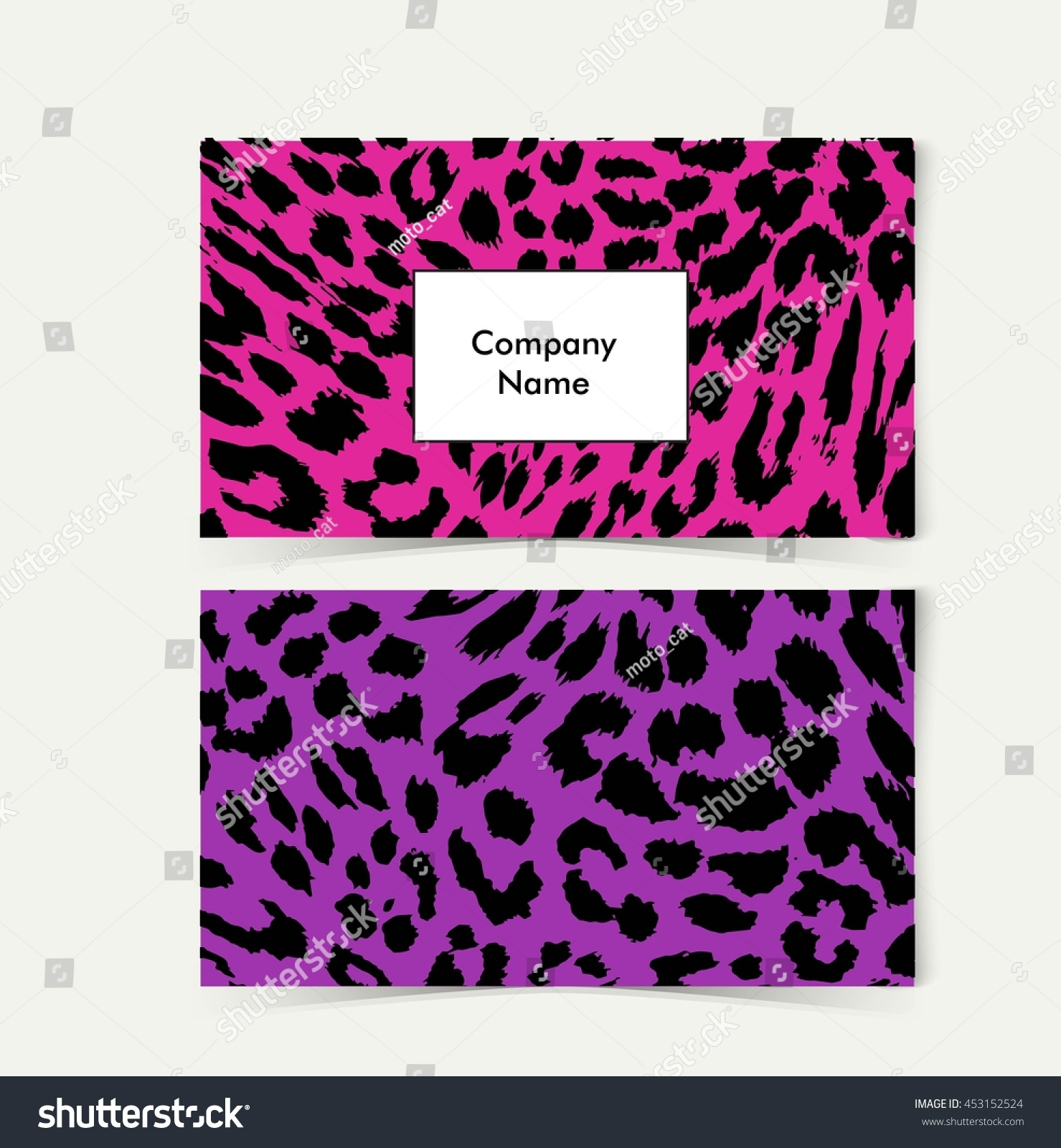 Free Zebra Print Business Cards Choice Image - Card Design And ...