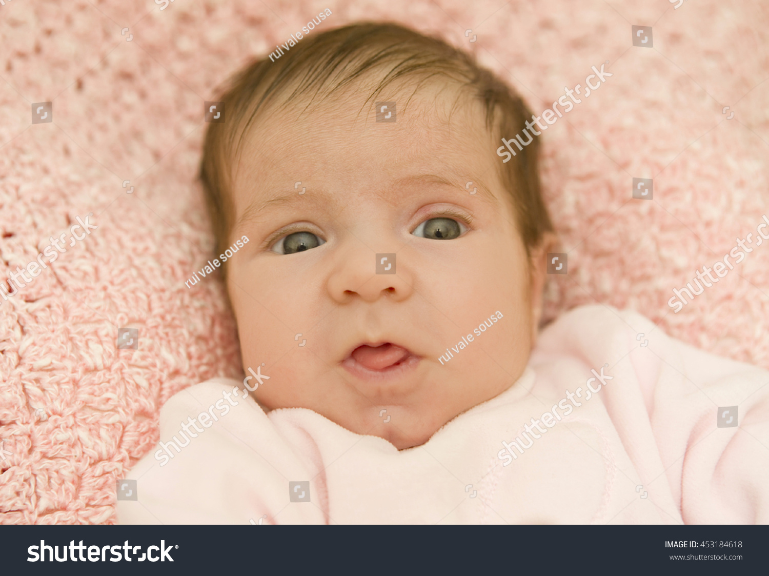 Young baby portrait studio picture