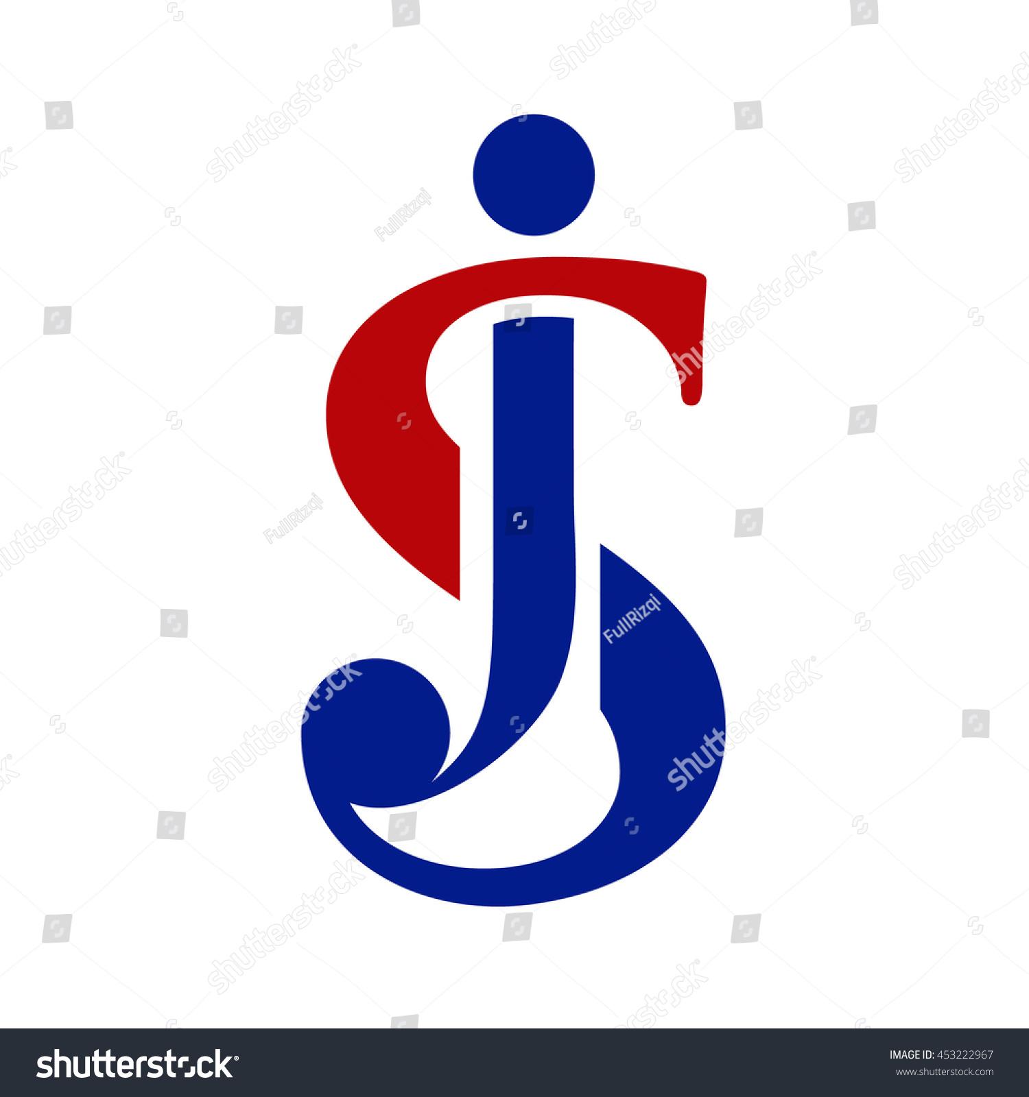 Sj Initial Logo Js Initial Logo Stock Vector 453222967 ...