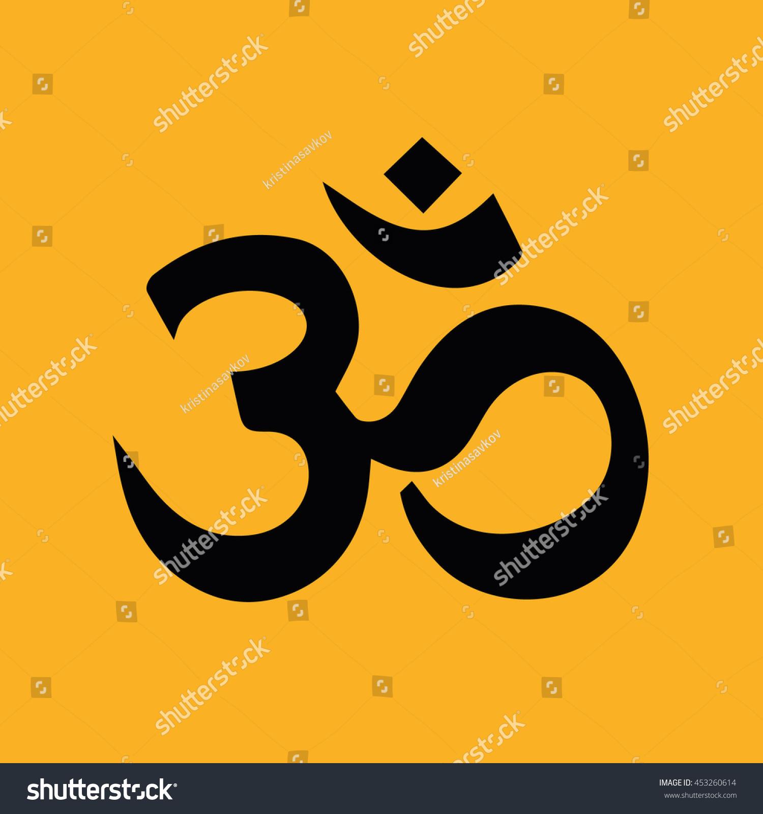 Om Symbol Hinduism Vector Icon Yellow Stock Vector 453260614