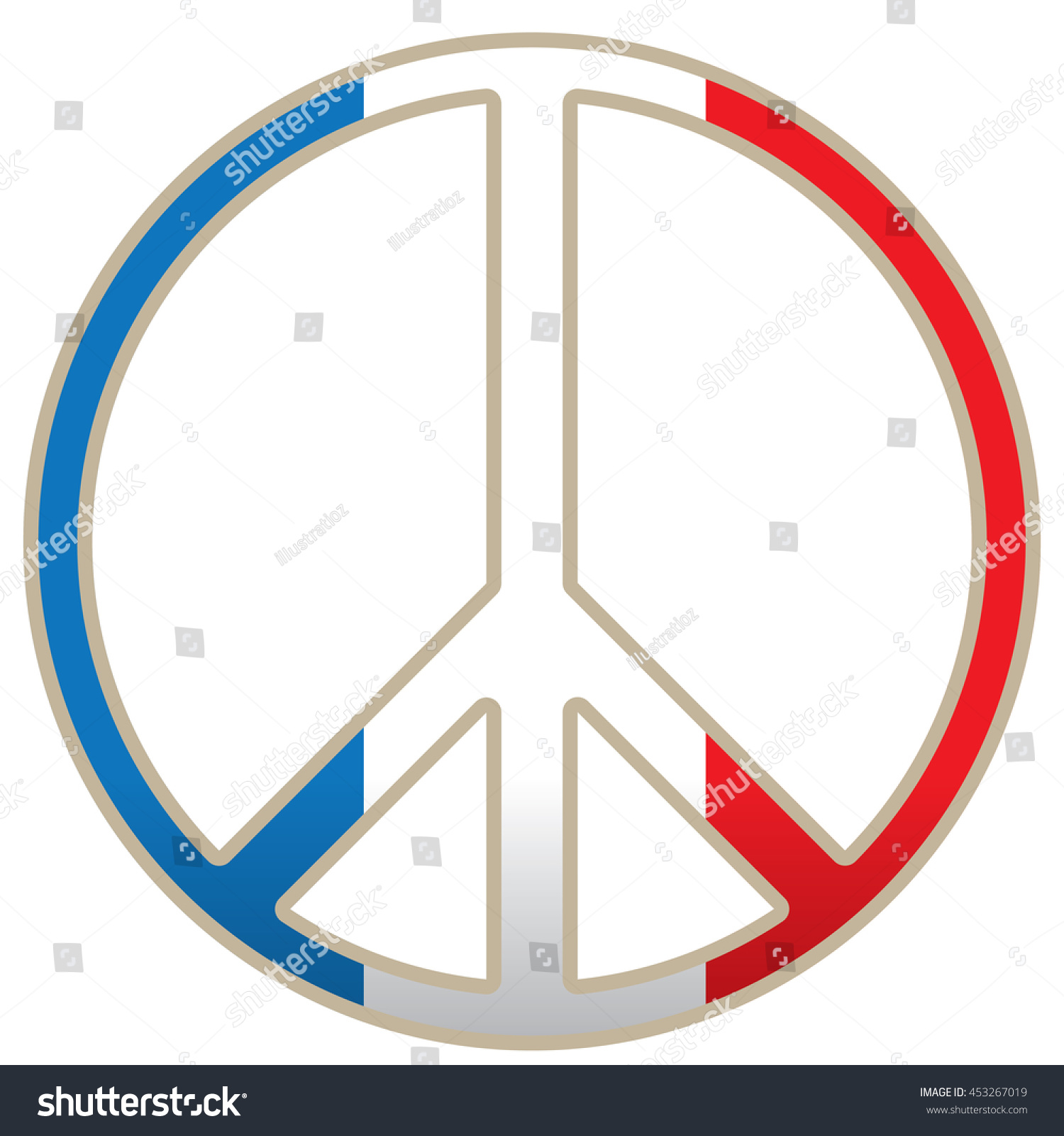 Isolated peace symbol french flag vector stock vector 453267019 isolated peace symbol french flag vector illustration biocorpaavc