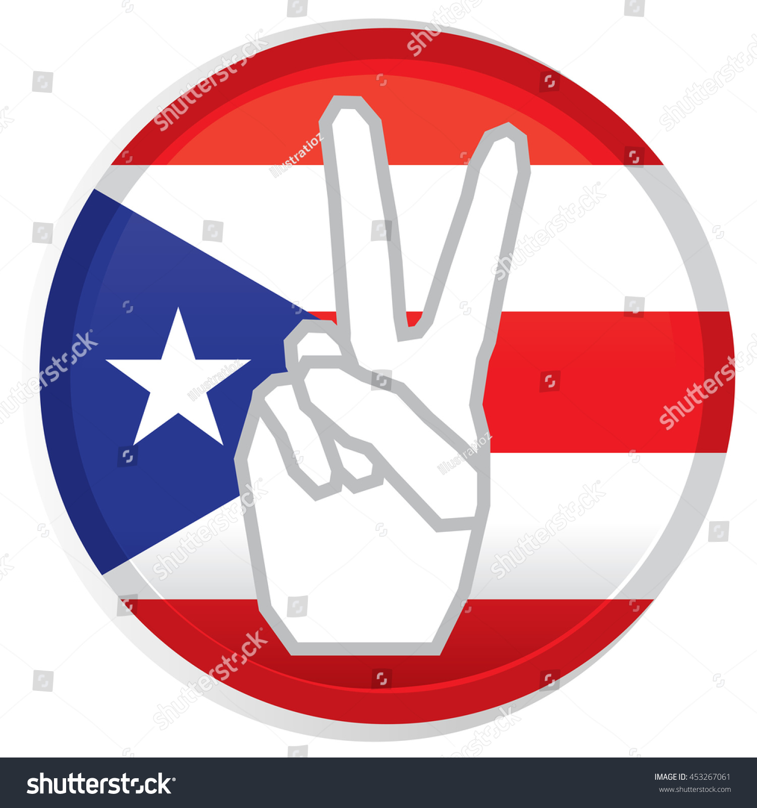 Isolated flag puerto rico conceptual peace stock vector 453267061 isolated flag of puerto rico conceptual peace vector illustration biocorpaavc Choice Image