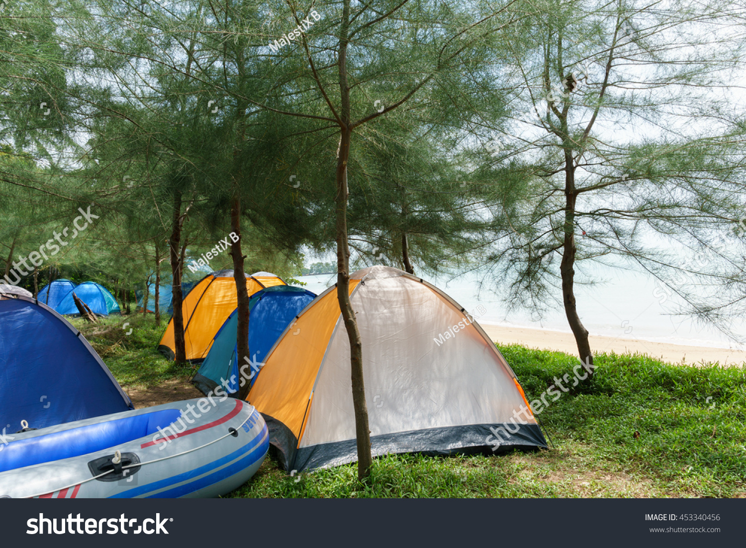 MALACCA MALAYSIA - February 8 2016  C&ing tents and boat near the beach at & Malacca Malaysia February 8 2016 Camping Stock Photo 453340456 ...