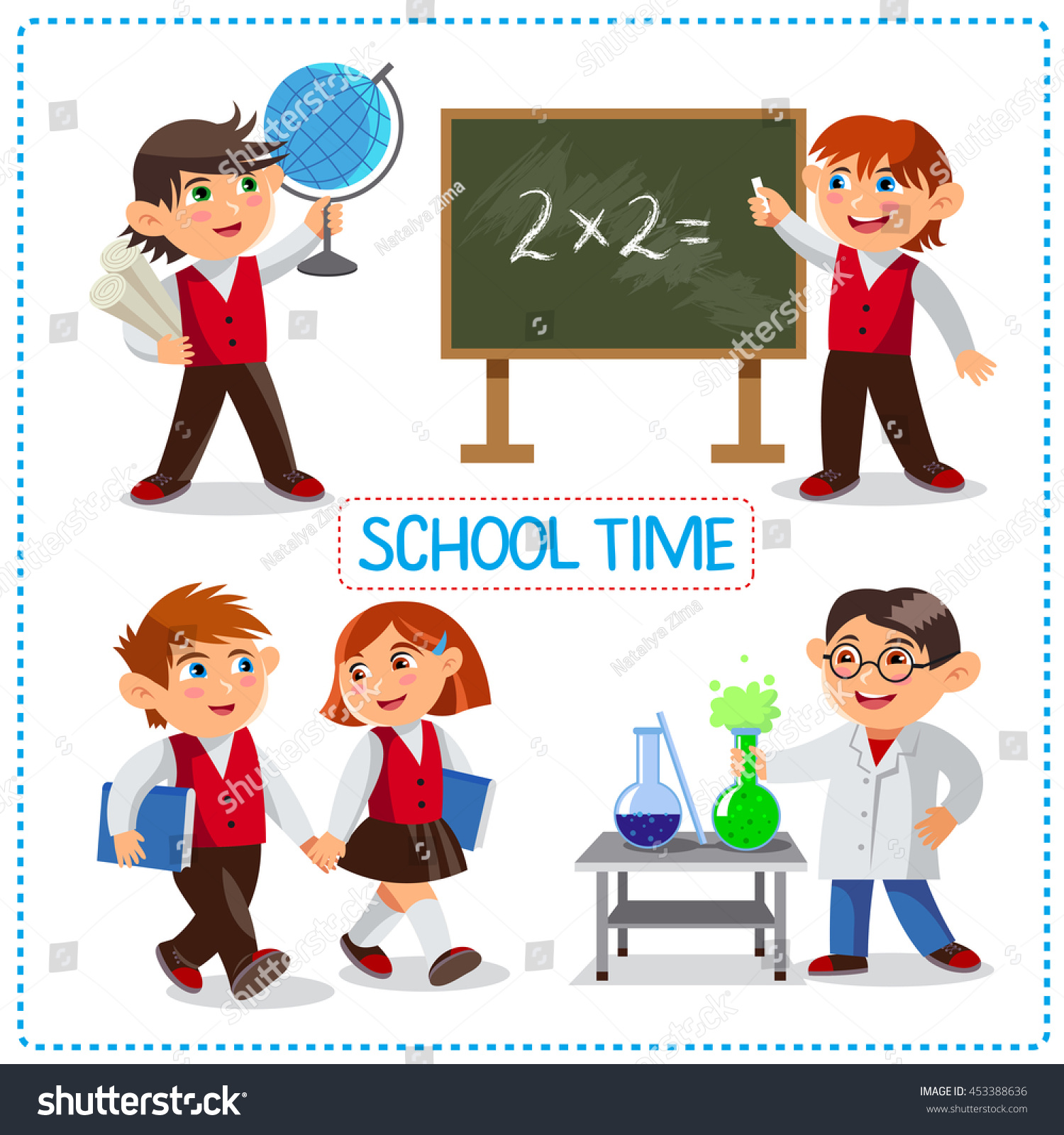 Deciding stock illustrations royalty free gograph - Cute Schoolchild At A Lesson Of Geography