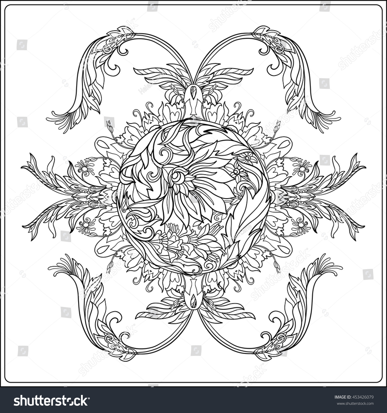 Medieval Floral Royal Pattern Royal Collection Stock Vector ...