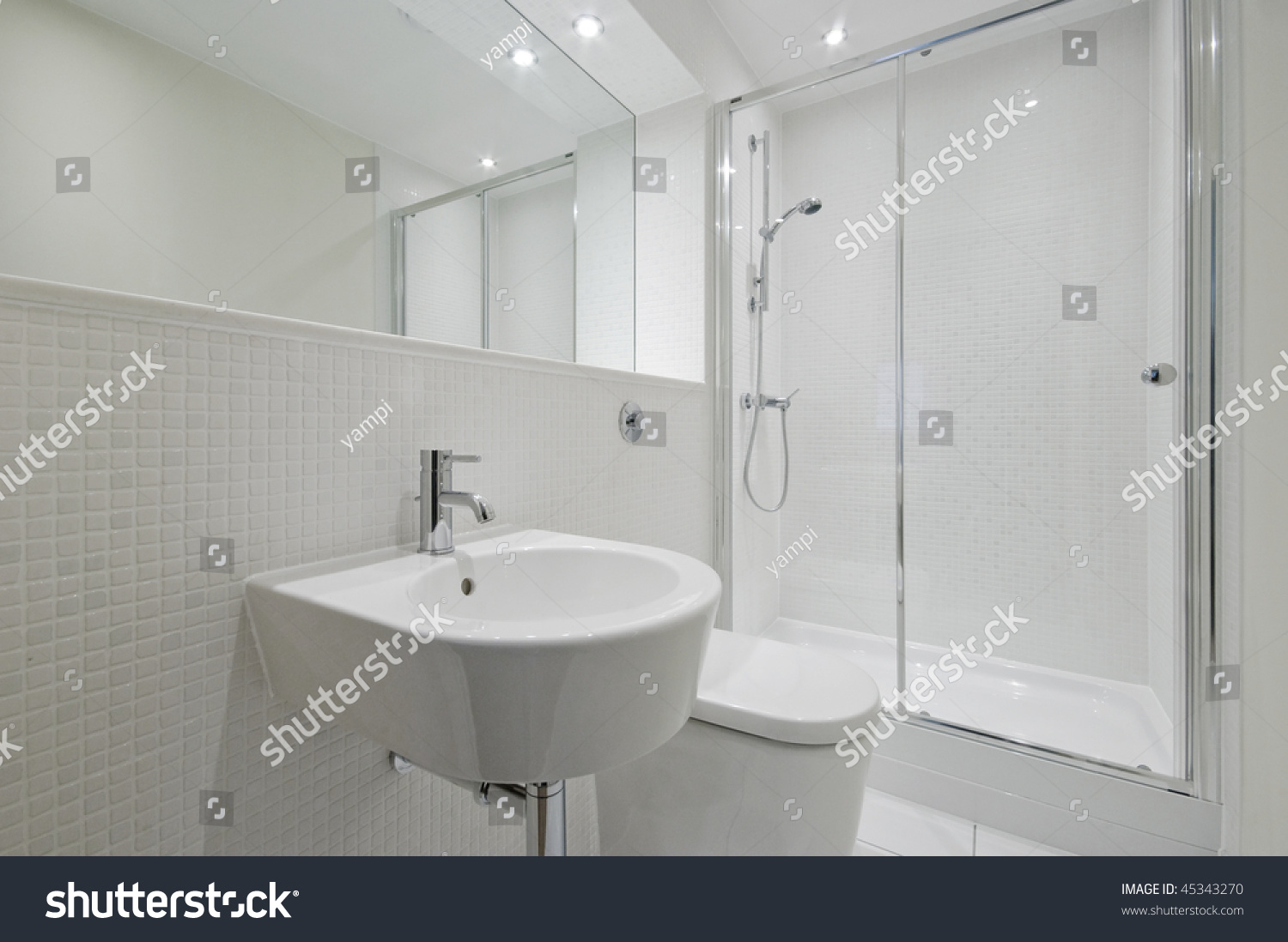 white mosaic tile bathroom modern en suite bathroom with white mosaic tiles stock 21571