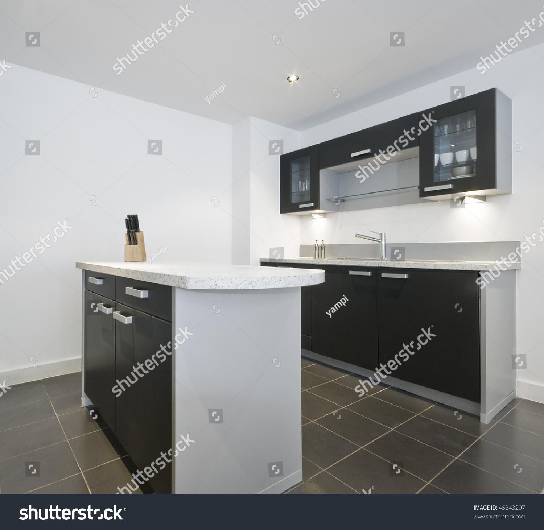 Modern Kitchen Work Isle Middle Stock Photo Edit Now 45343297