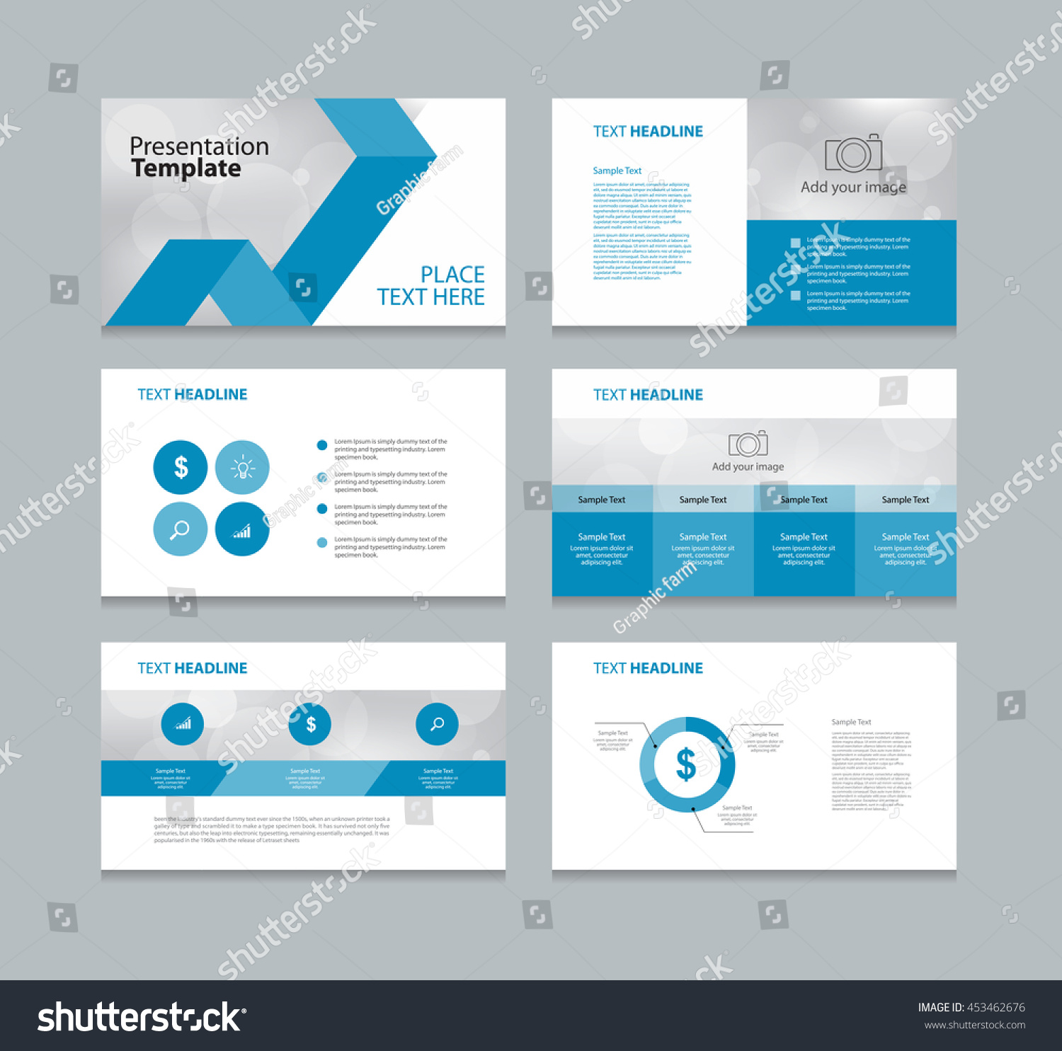 page layout design template presentation brochure のベクター画像